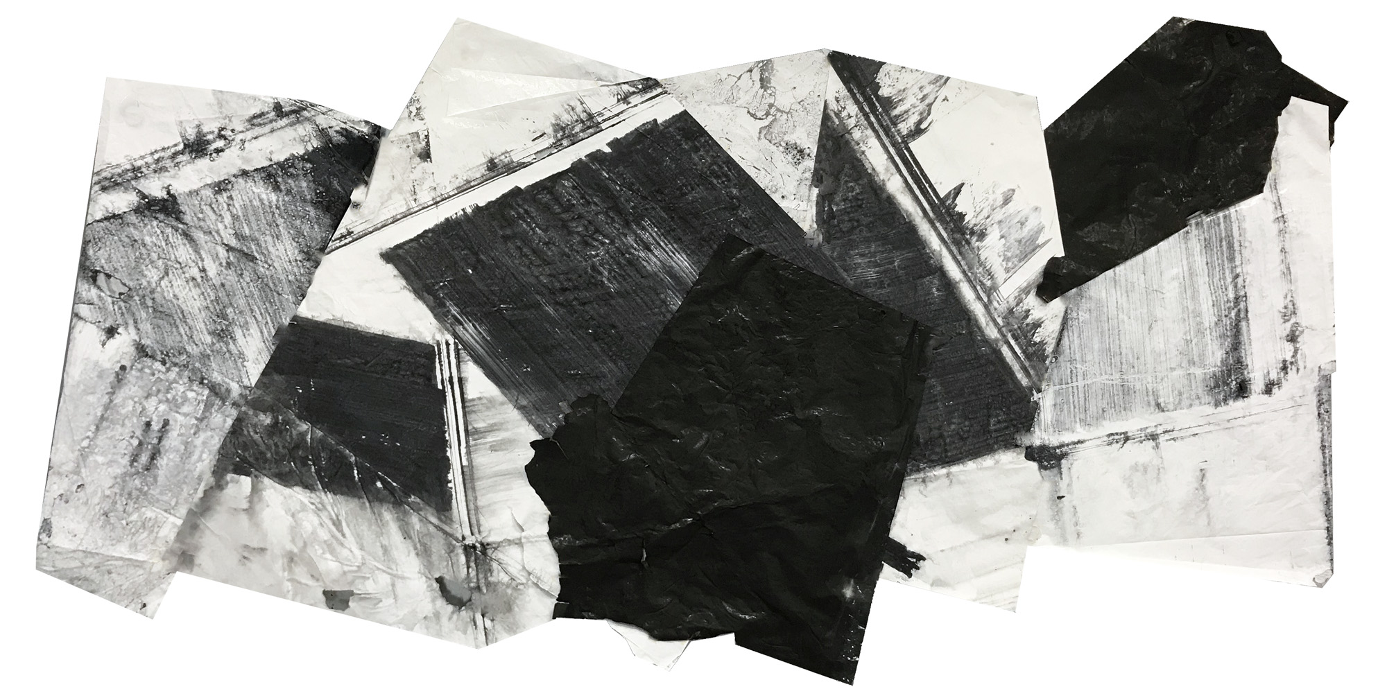 Zheng Chongbin   Untitled 1 , 2018 Ink and acrylic on xuan paper, mounted 135 x 271.5 cm