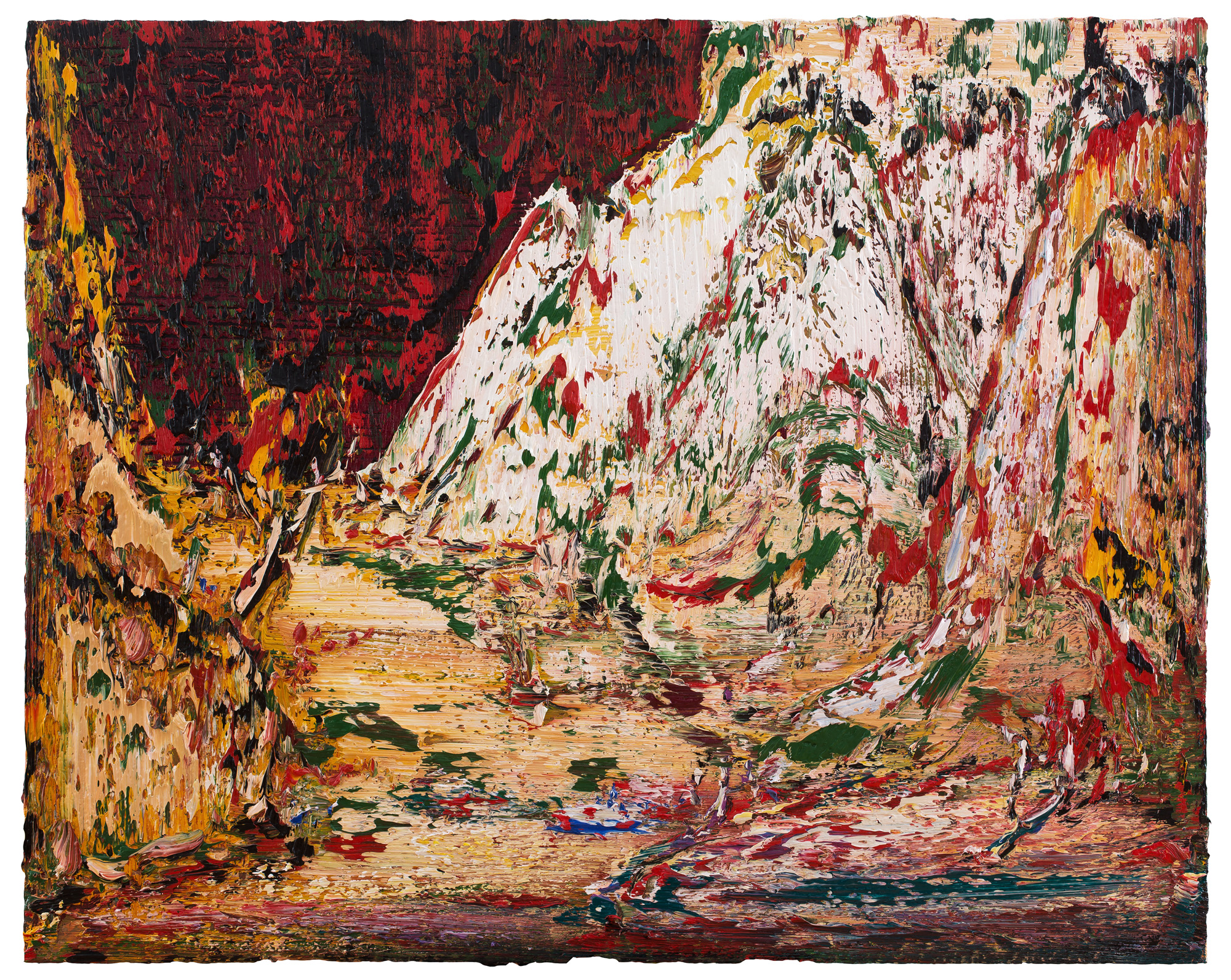 Yin Zhaoyang   White mountain spring , 2018 Oil on canvas 120 x 150 cm
