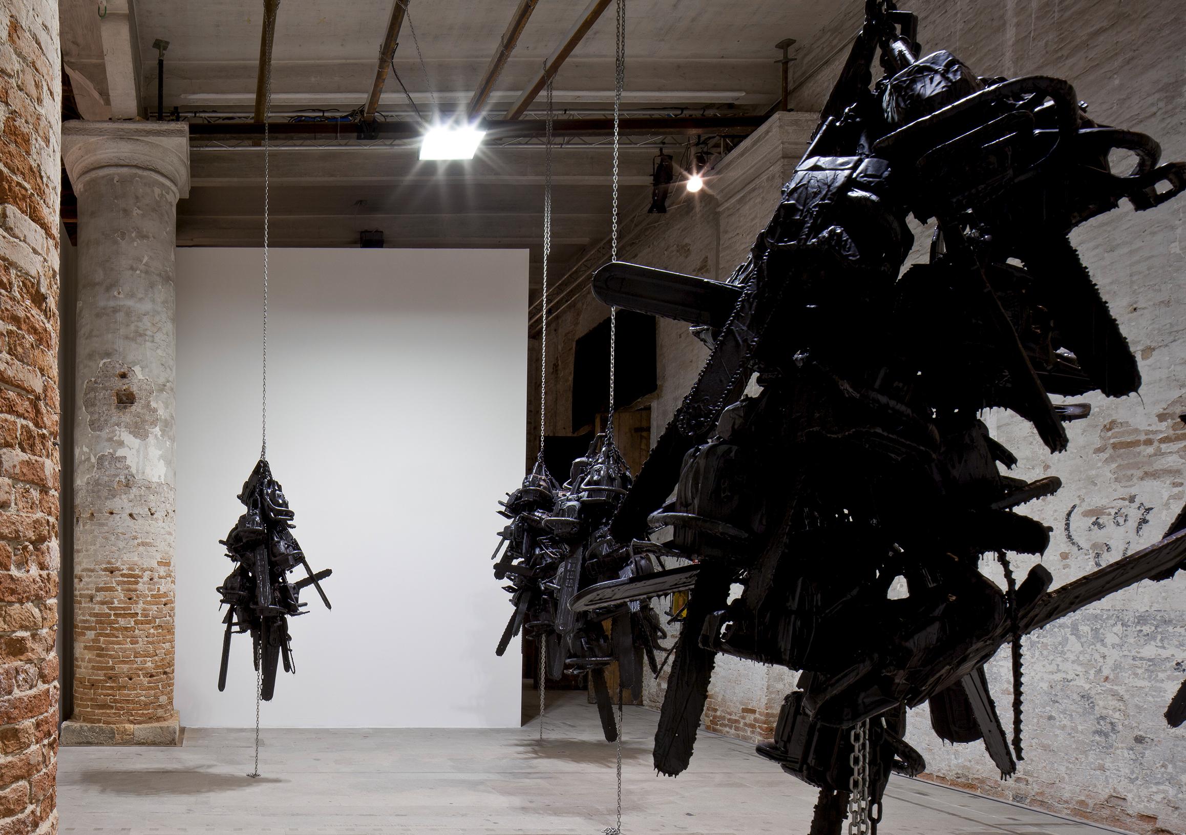 Photo: Monica Bonvicini, Latent Combustion, 2015. Photo by Alessandra Chemollo. Courtesy by la Biennale di Venezia.