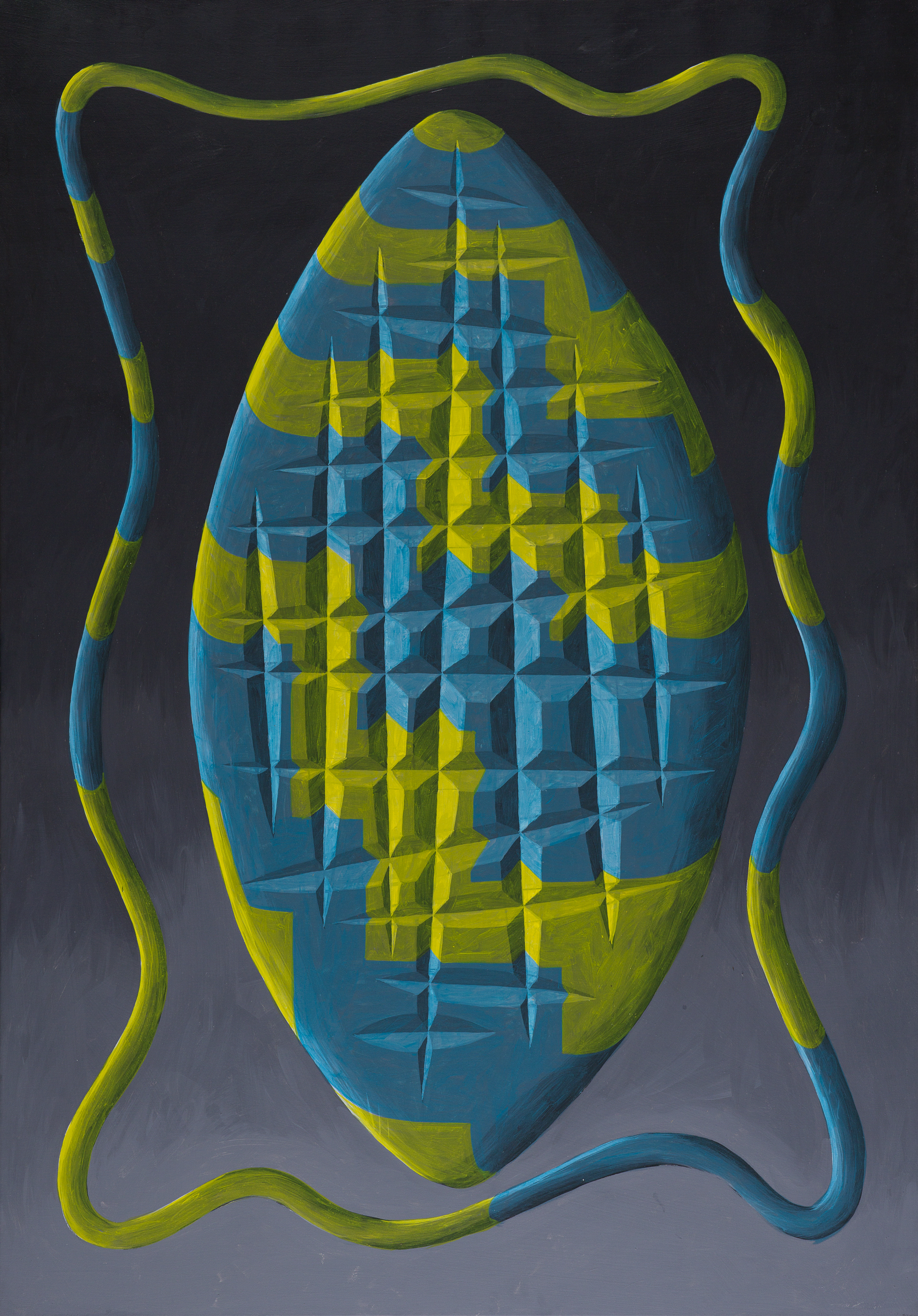 Peter Schuyff   Kali II  1984 Acrylic on canvas 168 x 117 cm