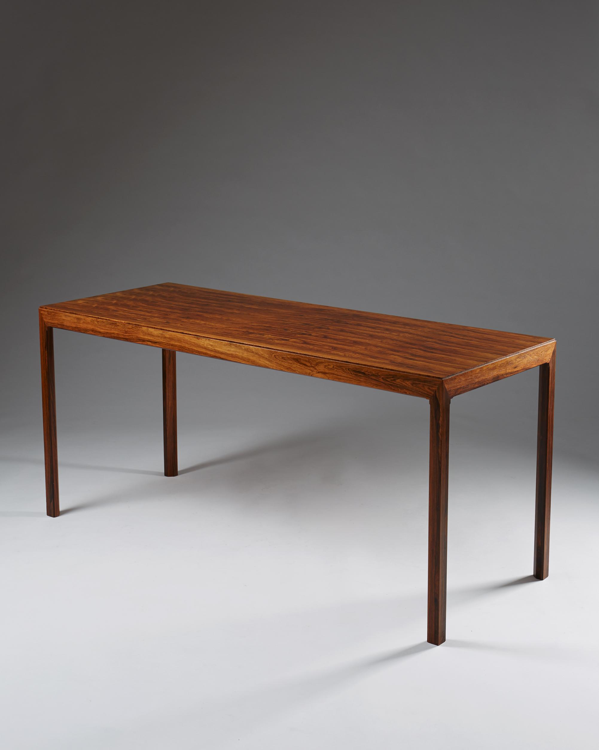 Erik Chambert  Library table/desk Sweden, 1959 Rosewood. 73 x 159 x 61 cm