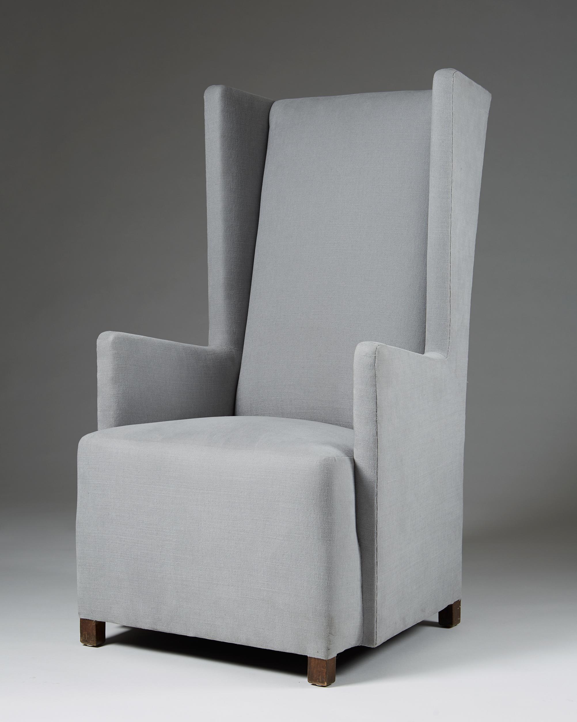 Uno Åhrén or Björn Trägårdh Armchair  Sweden, 1930's Wool upholstery. 110 x 70 x 63 cm Seat: 41 cm