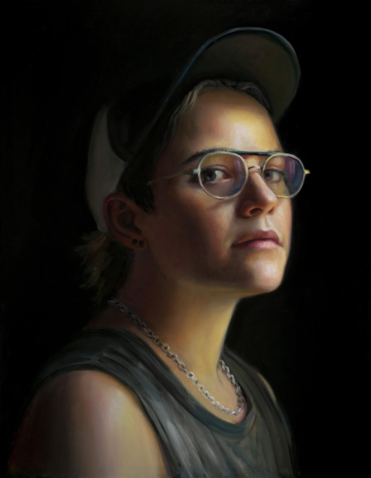 TM Davy   Lauryn  2018 Oil on canvas 46 x 35.5 cm