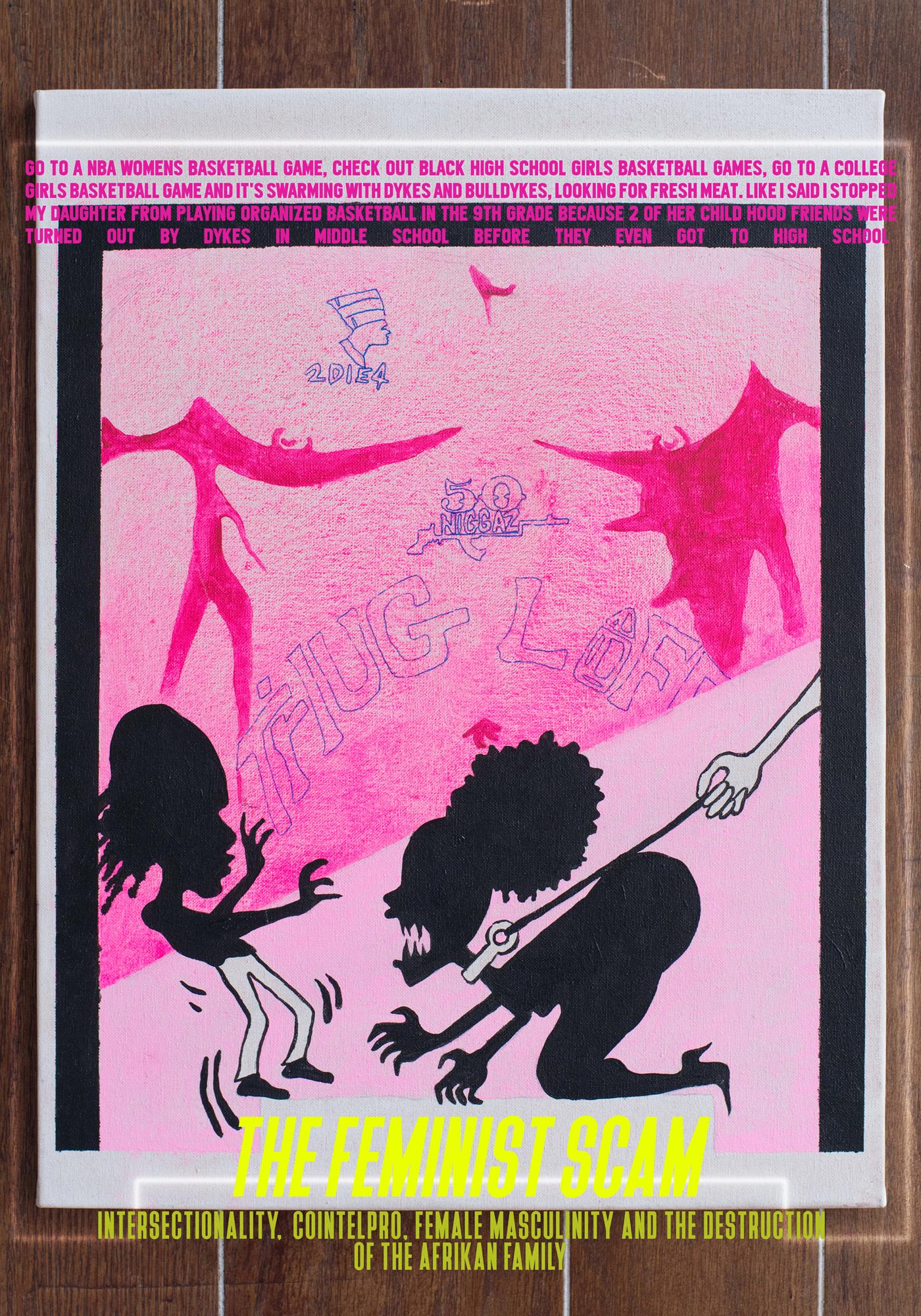 Juliana Huxtable   The Feminist Scam  2017 Inkjet Print 127 x 89 cm Edition 2/3 + 2AP