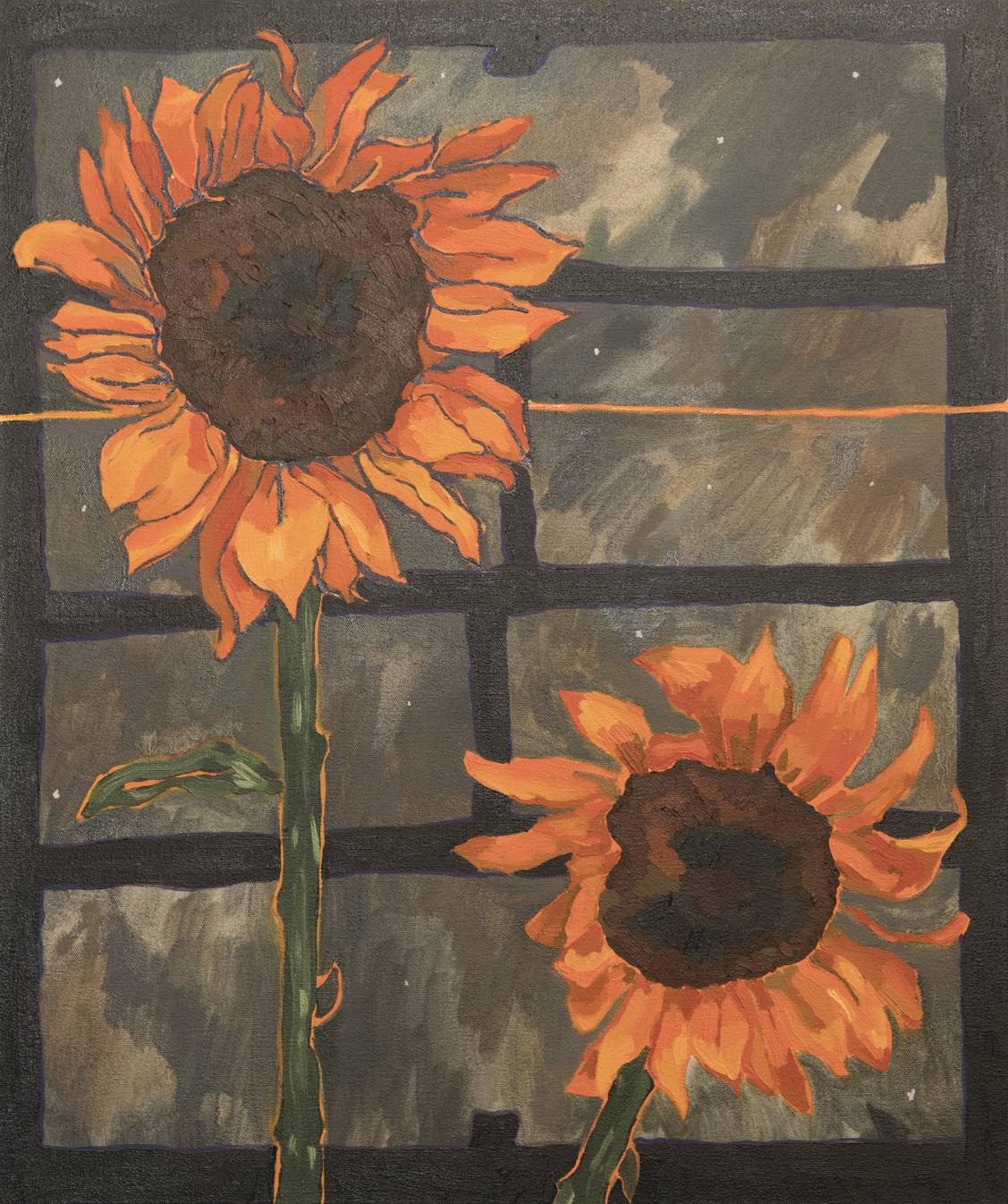 Alex Chaves   Sunflowers  2018 Oil on canvas 61 x 50.8 cm  Available