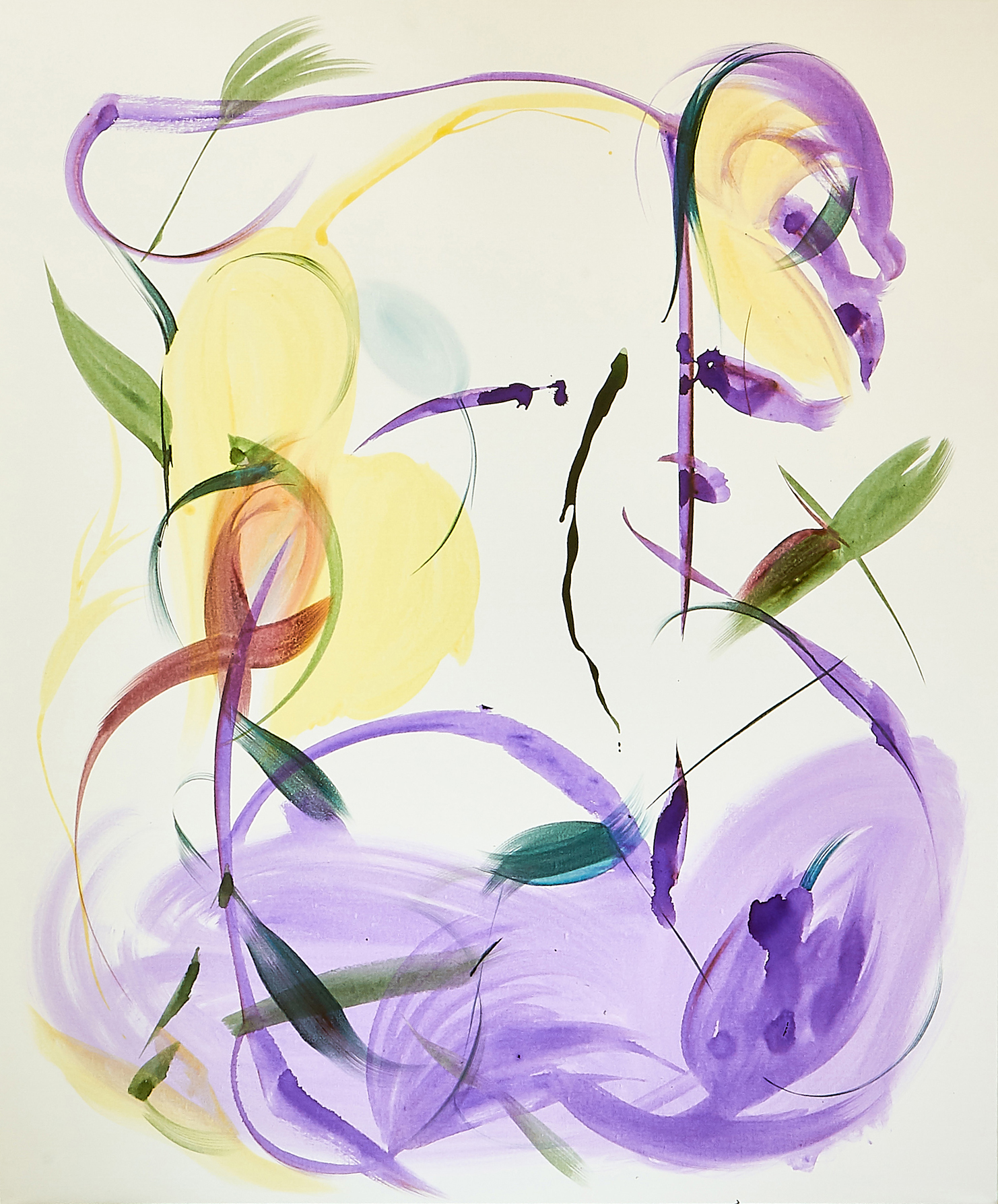 Huang Yanyan   Purple Poem  2019 Acrylic on Canvas 152.4 x 182.9 cm  Available