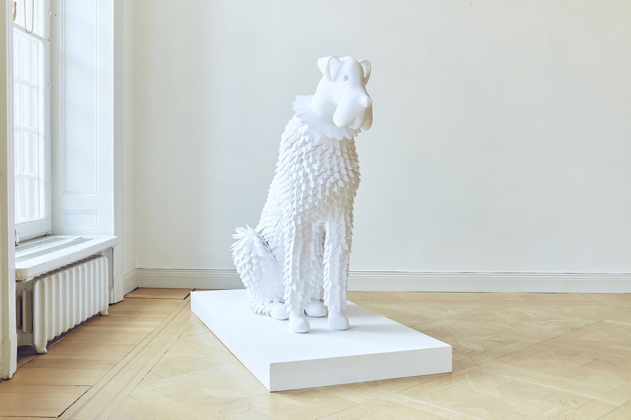 Dog #8 Paper and fabric 2019, Unique 110 x 142 x 60 cm