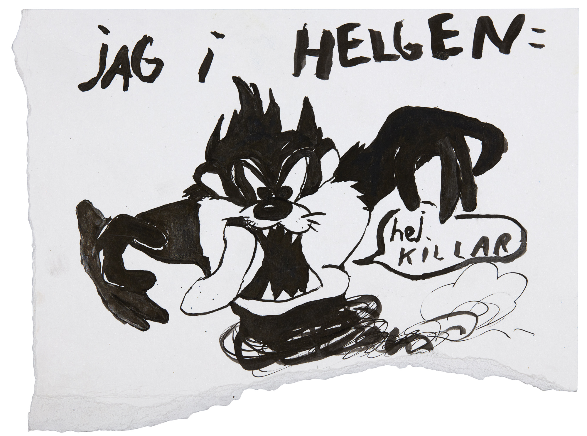 Ester Eriksson  Untitled    2017 Ink on paper 16 x 22 cm