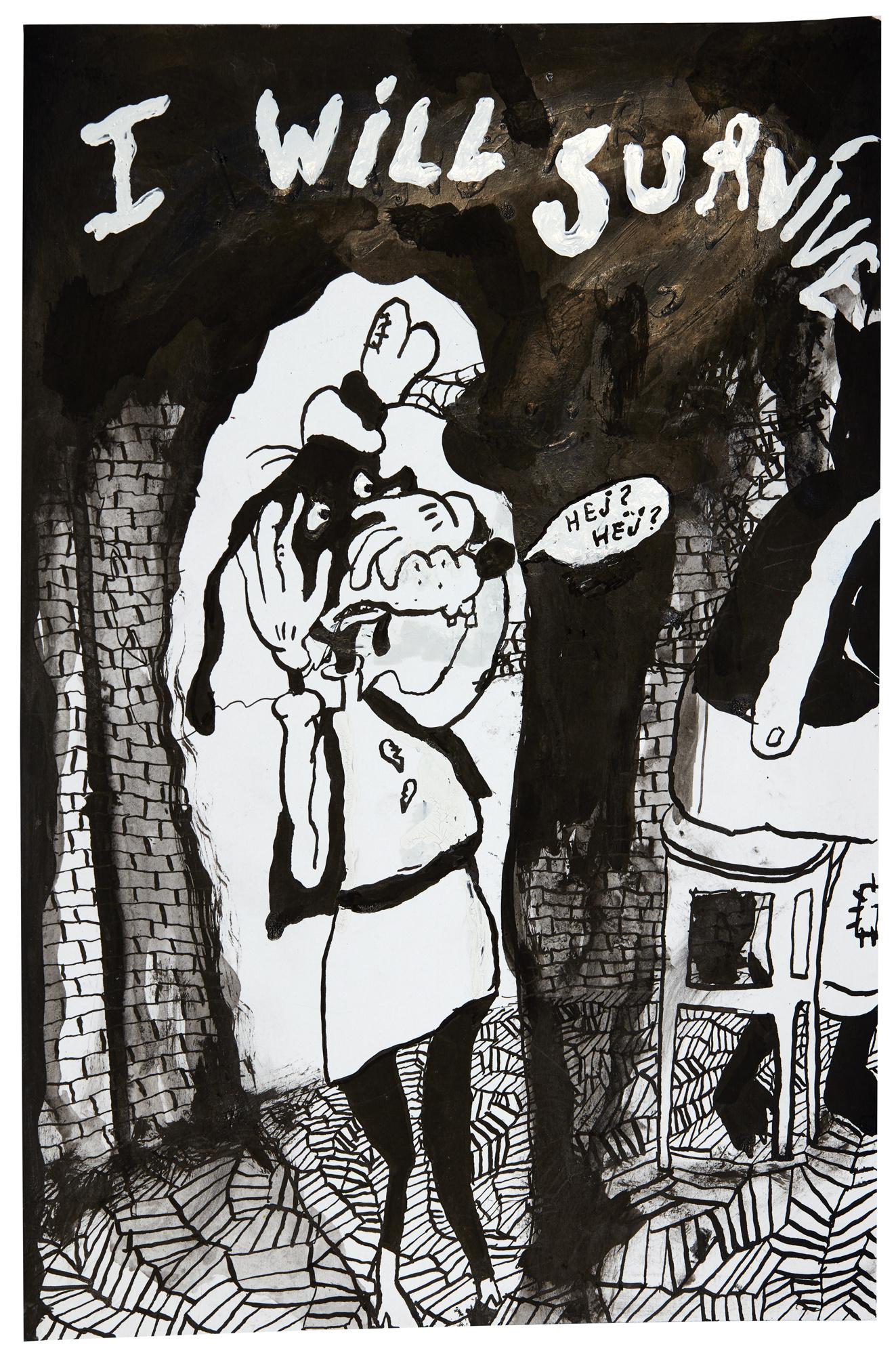 Ester Eriksson  Untitled    2017 Ink on paper 30 x 21 cm