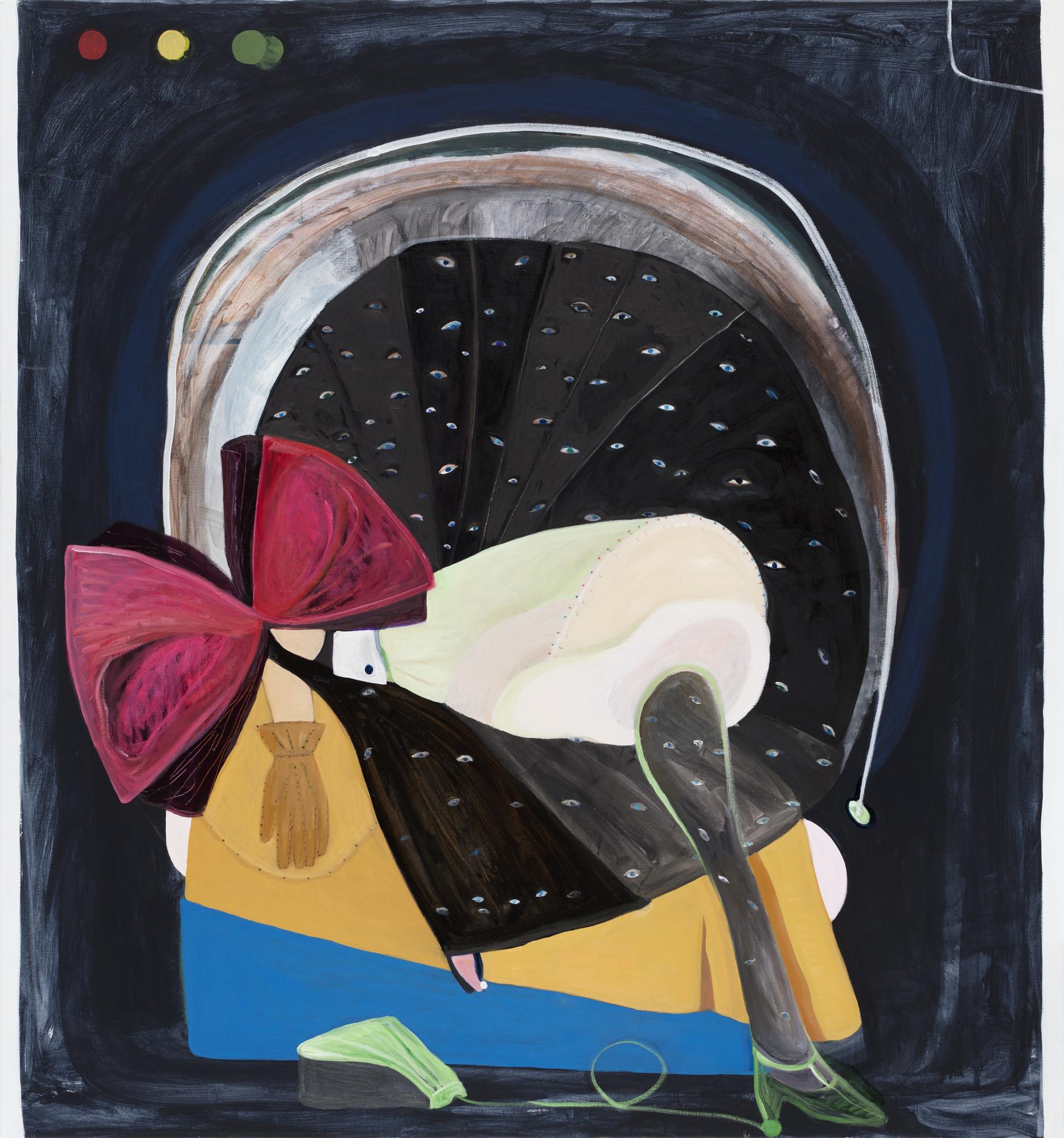 Pia Mauno  Bonsai    2019 Vinyl paint and oil on canvas 152 x 145 cm