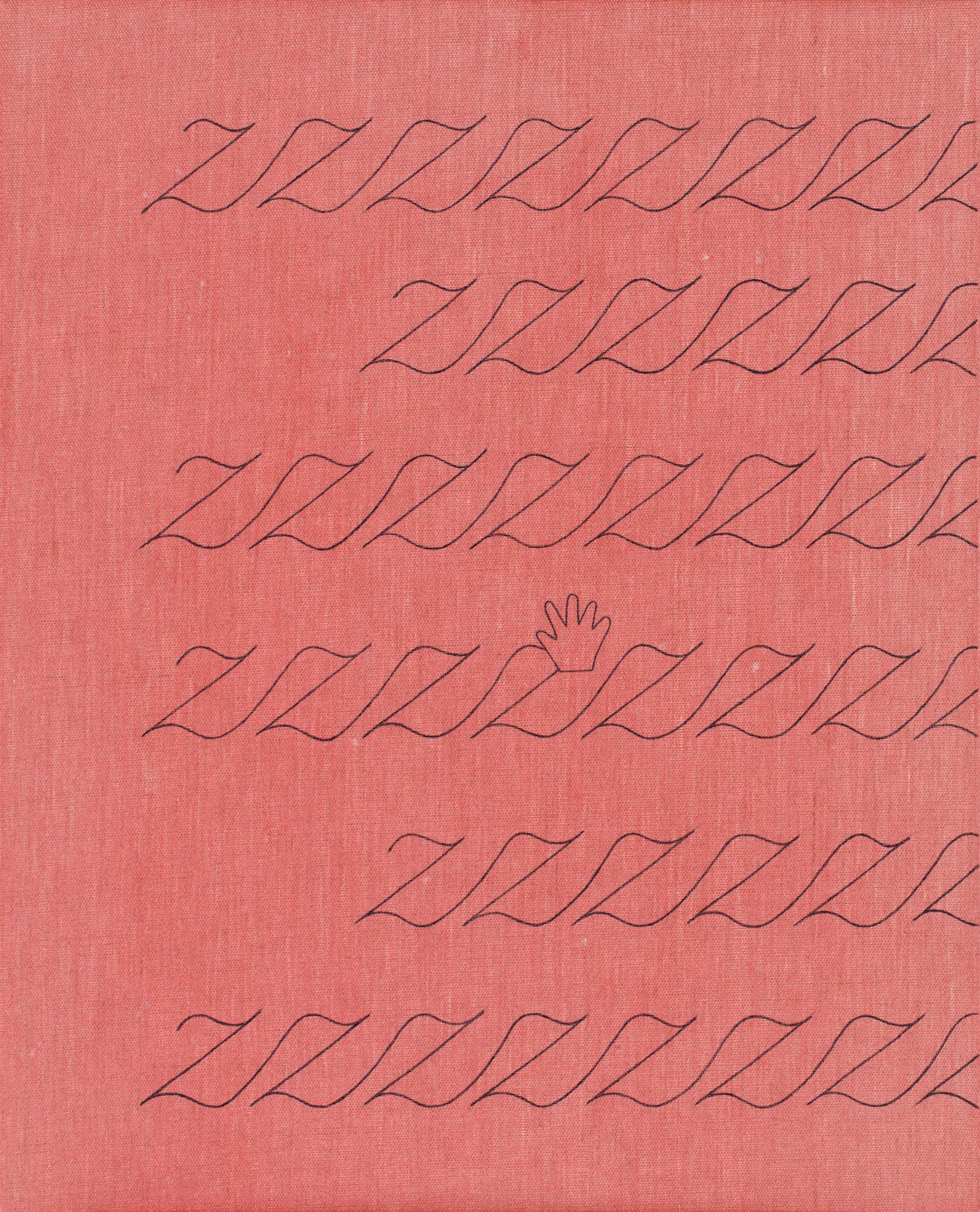 Norberg & Sundén  ZZZ  2019 Acrylic on linen cloth 55 x 44 cm