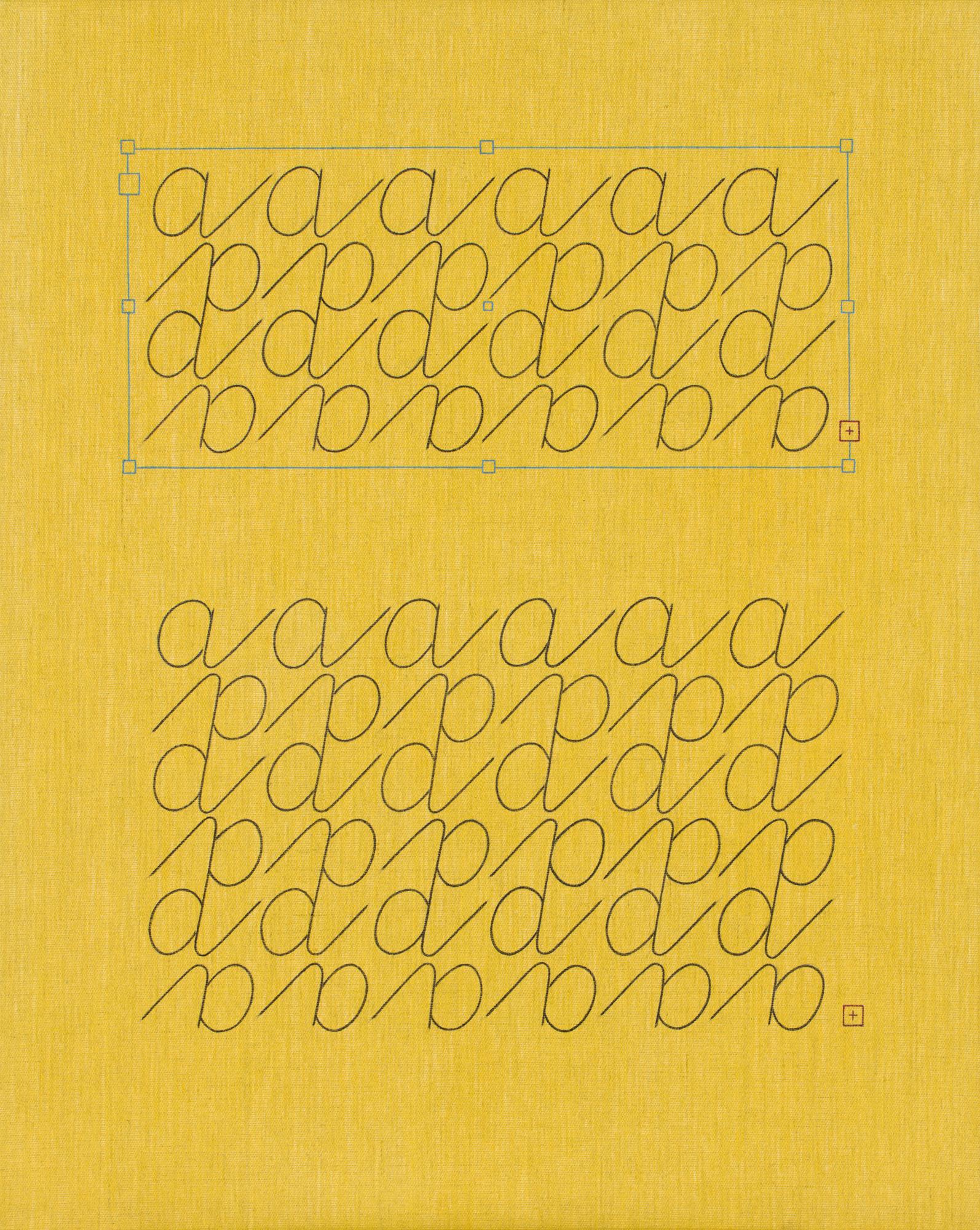 Norberg & Sundén  A  2019 Acrylic on linen cloth 65 x 52 cm
