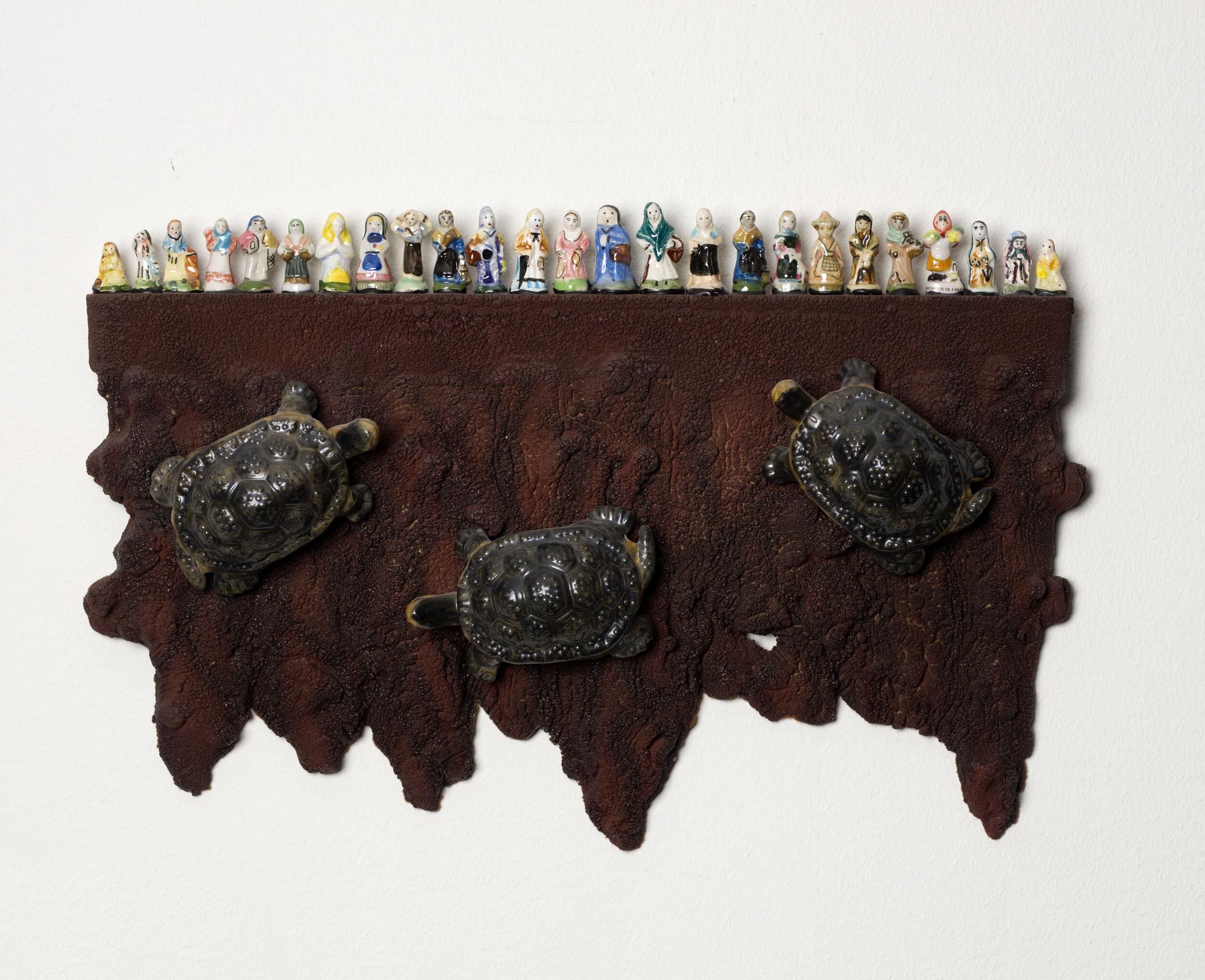Per B Sundberg   Perspektiv  2012 Signerad och daterad a tergo  Glaserat stengods 27,5 x 41,5 cm