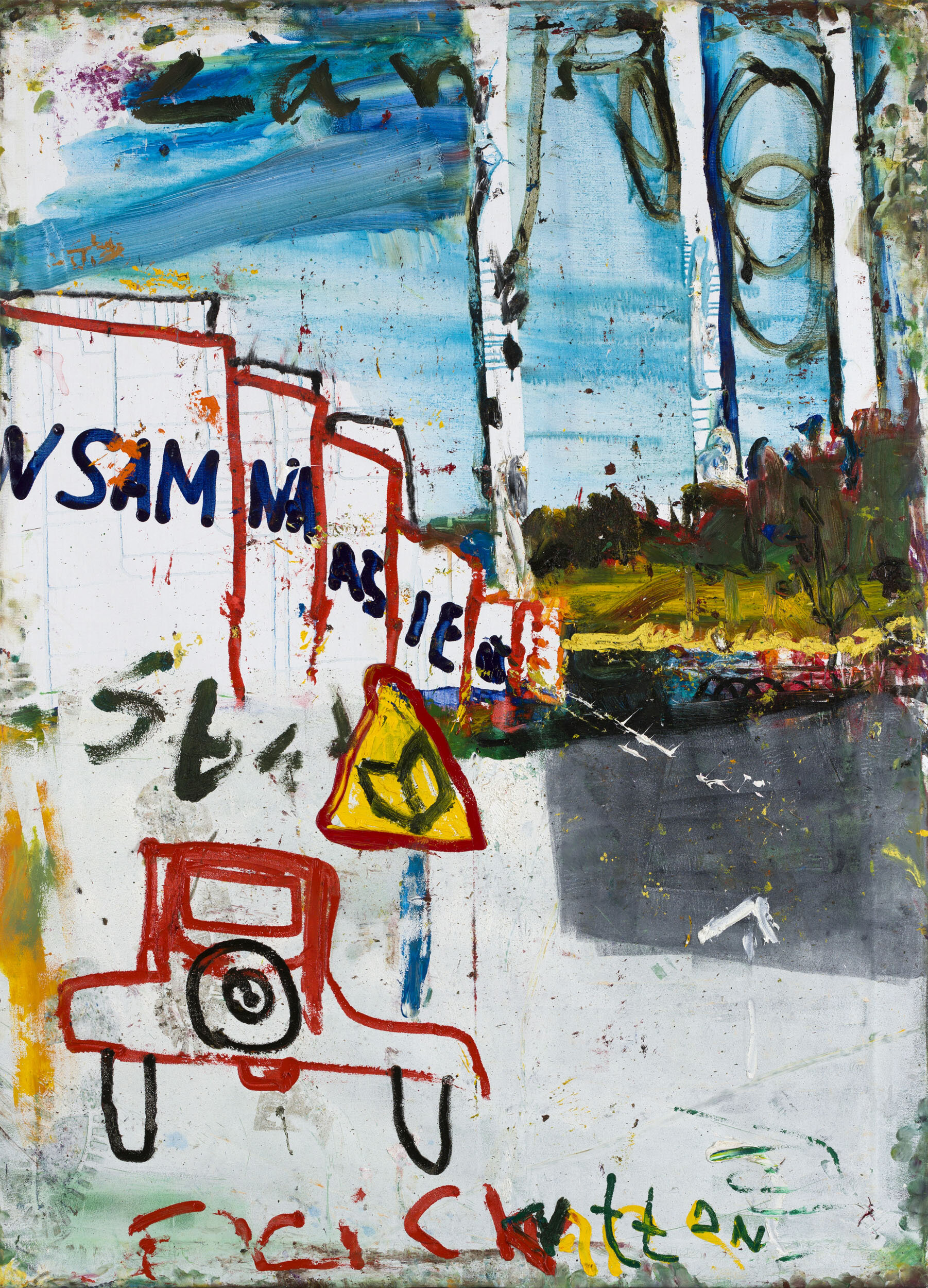 Jarl Ingvarsson   Stad o Land, ur Strindbergssviten  2012 Signerad och daterad a tergo  Olja på duk 141 x 101 cm