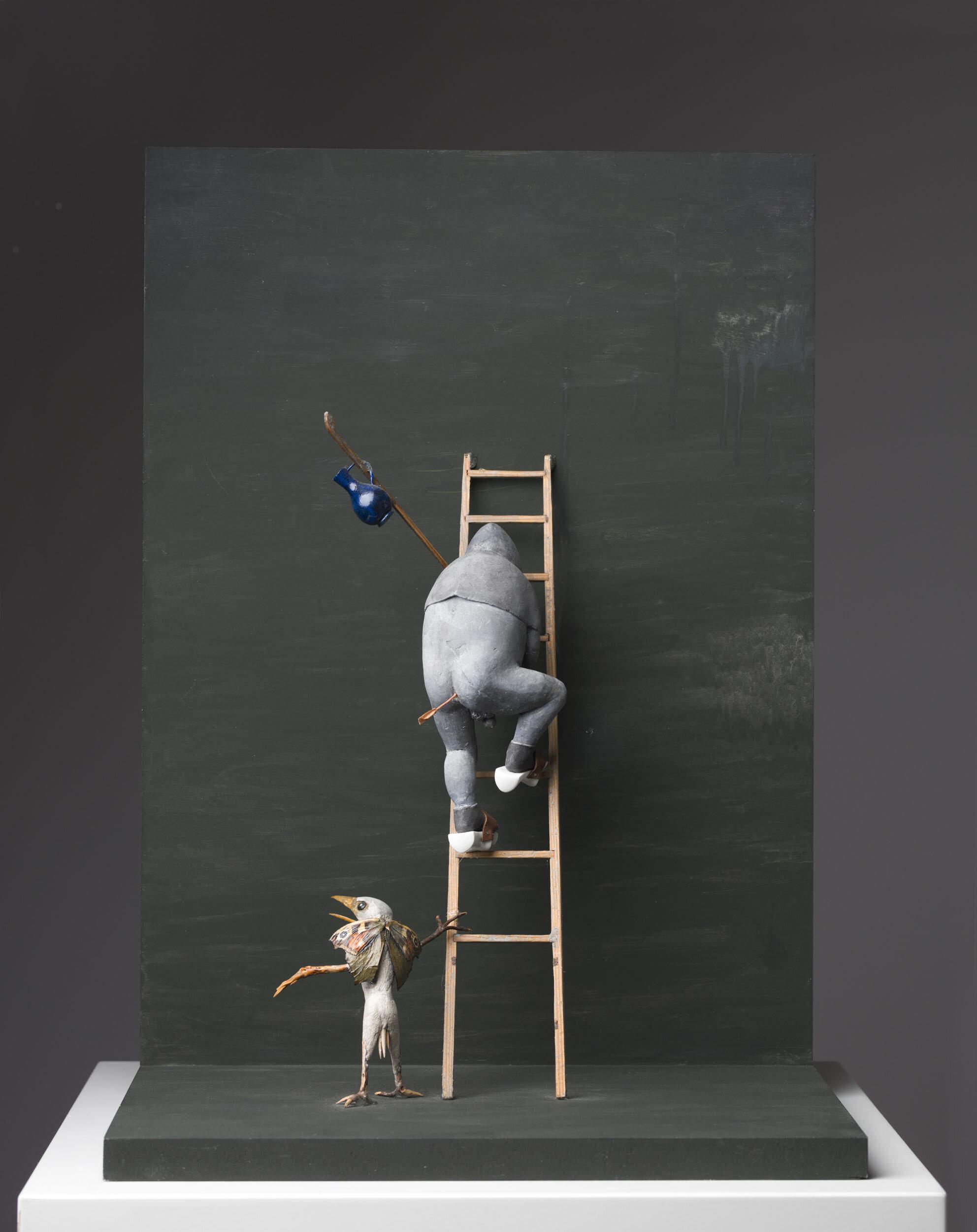 Tilda Lovell   Mot Las Vegas  2006 Signerad och daterad a tergo  Blandteknik, väggskulptur  42 x 29 x 21 cm