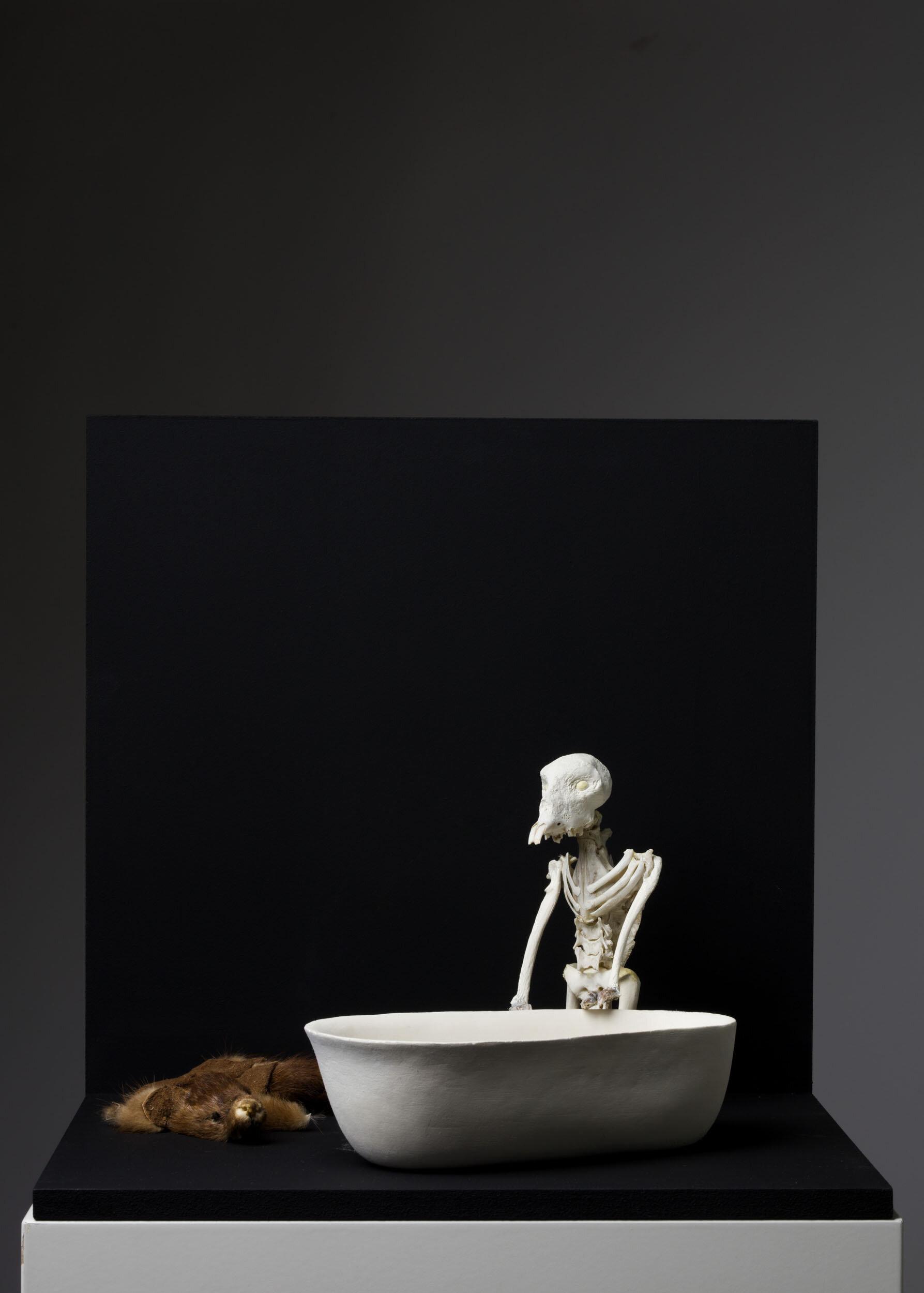 Tilda Lovell   Untitled  201 4 Blandteknik, väggskulptur 16 x 26 x 35 cm