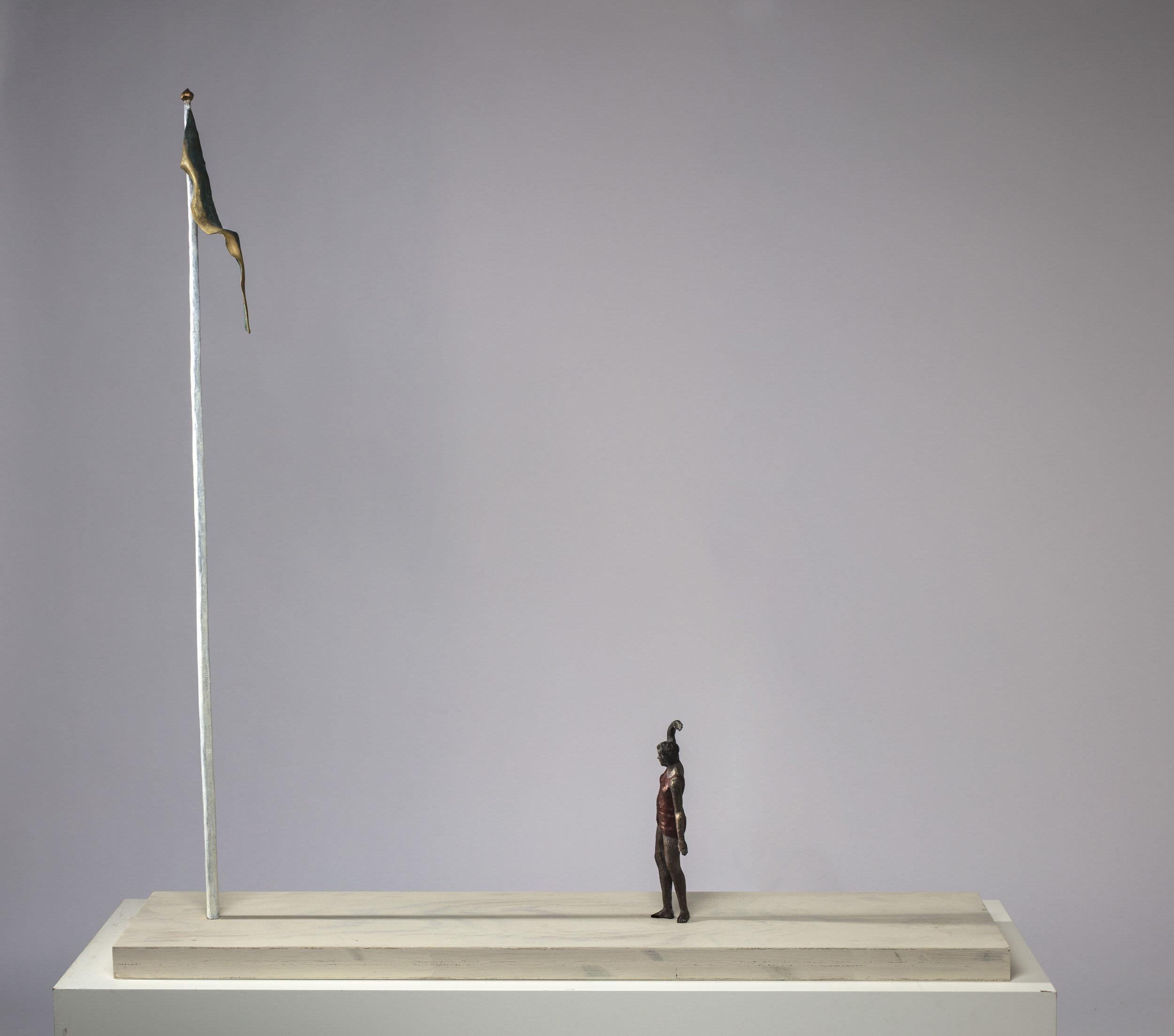 Linnéa Jörpeland   I sinom tid  2009 Signerad och daterad, numrerad 1/5 undertill Skulptur, trä och brons  100 x 100 x 22 cm
