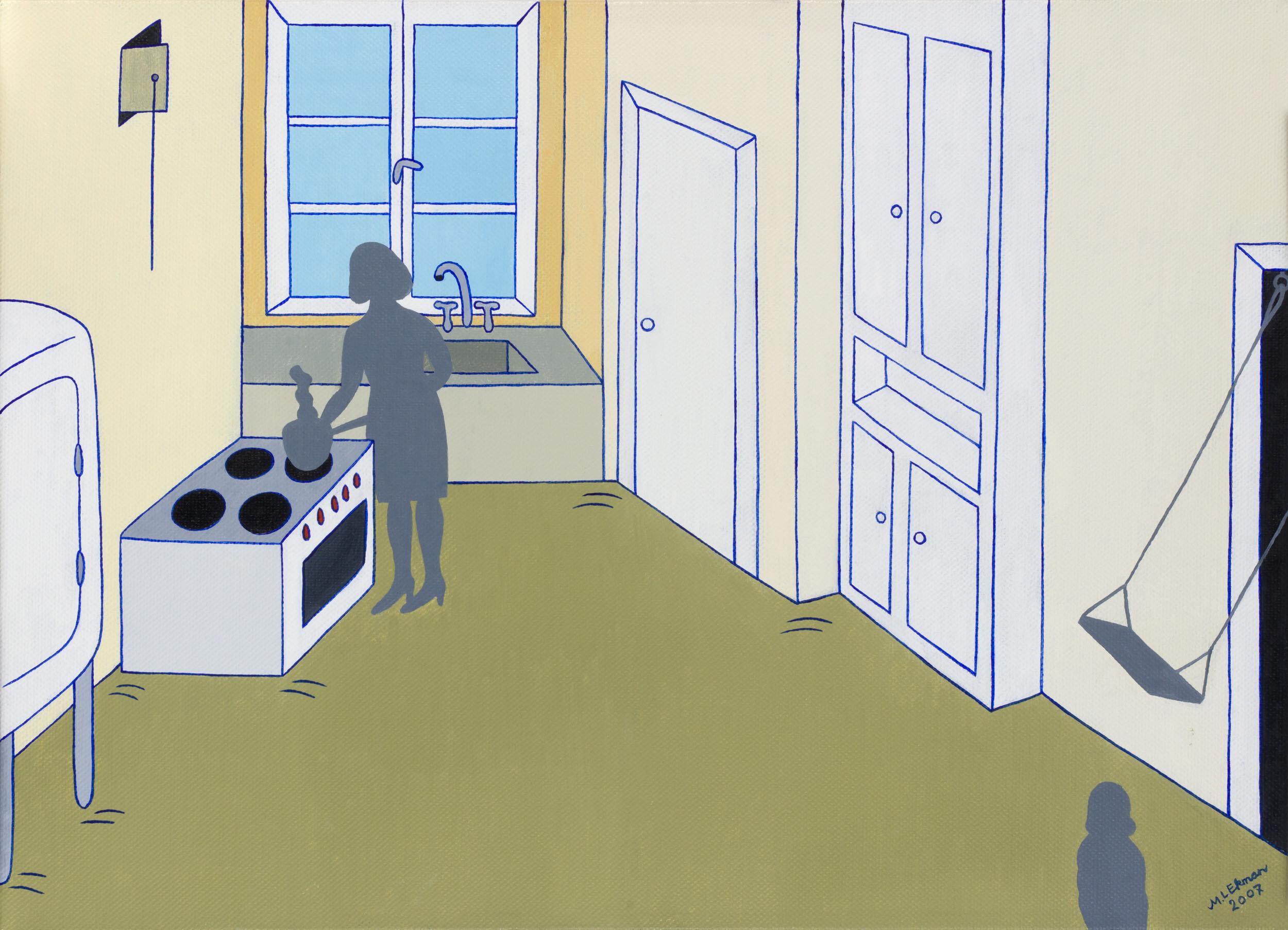 Marie-Louise Ekman   Det gamla köket  2008 Signerad och daterad Olja på duk 48 x 60 cm