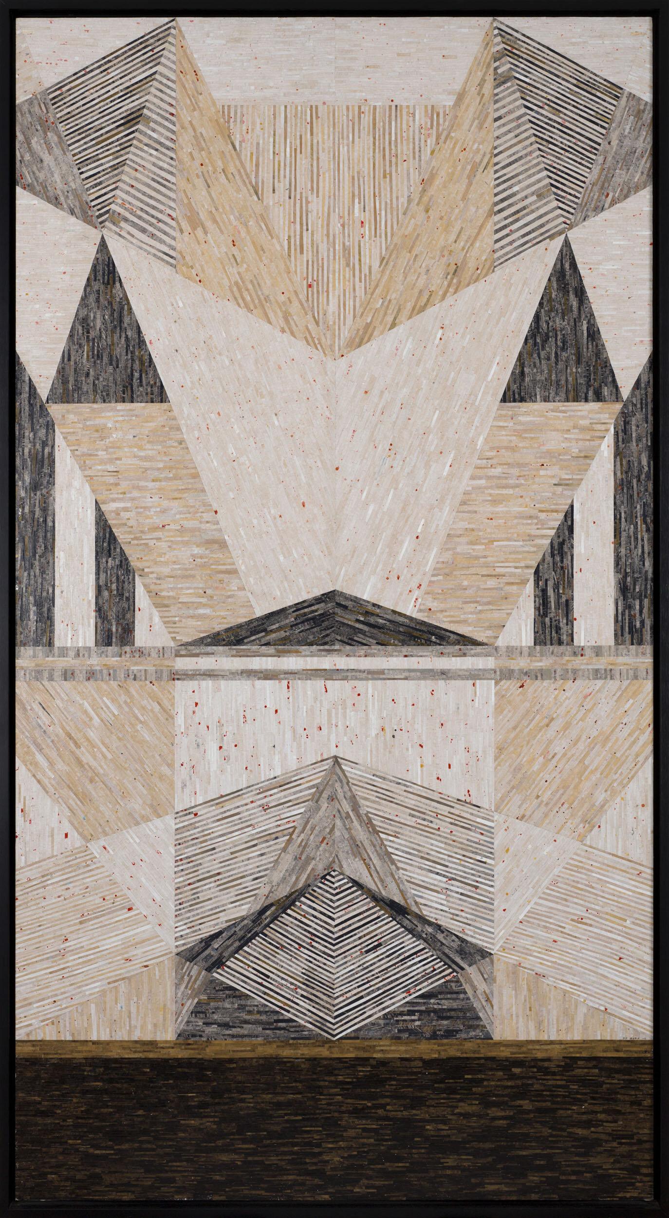 Rebecka Bebben Andersson   The End (poison)  2012 Signerad och daterad Collage, papper 208 x 111,5 cm