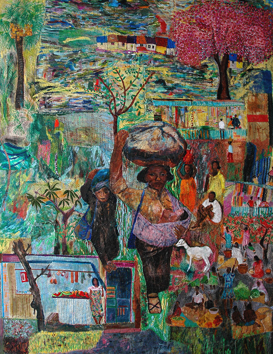 Pacita Abad,   The village where I came from , 1991. Courtesy: Silverlens Gallery
