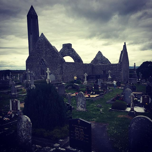 Kilmacduagh Monastery, Co. Galway built in the 7th century