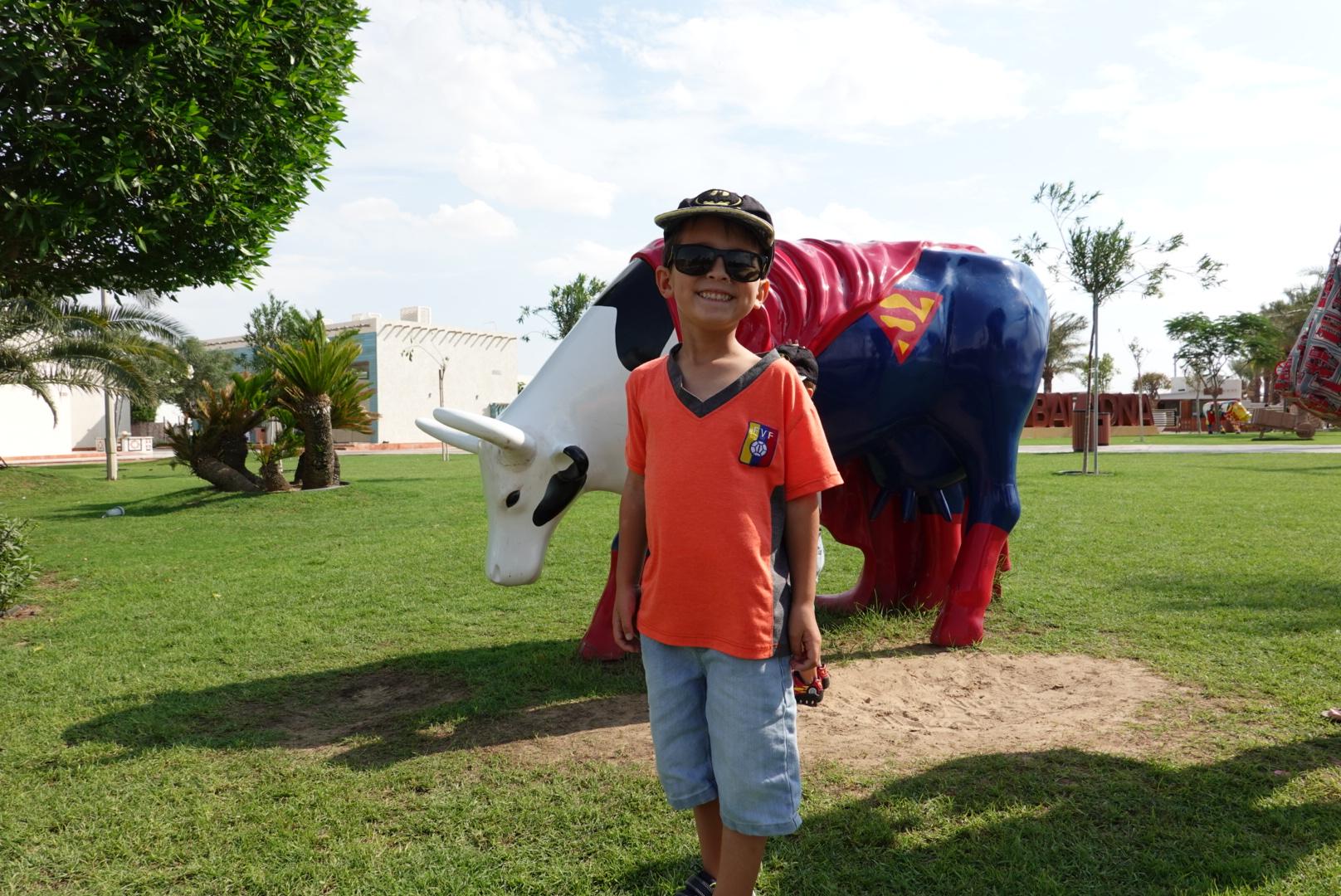 Matthew all smiles and joy at a recent trip to Baladna Farm