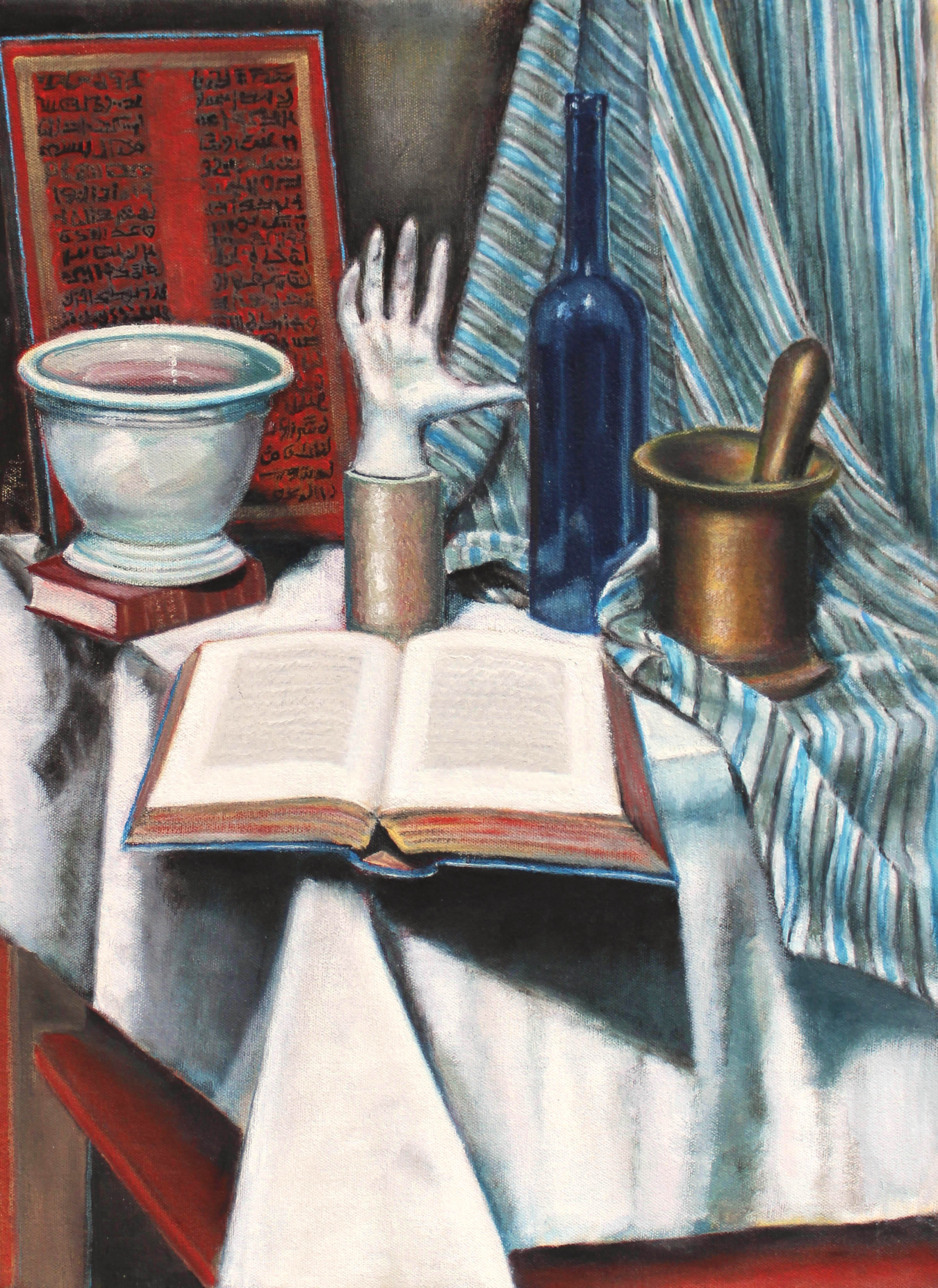 "2012 | An Open Book | Oil on canvas | 22"" x 16"" (55.9 cm x 40.6 cm)"