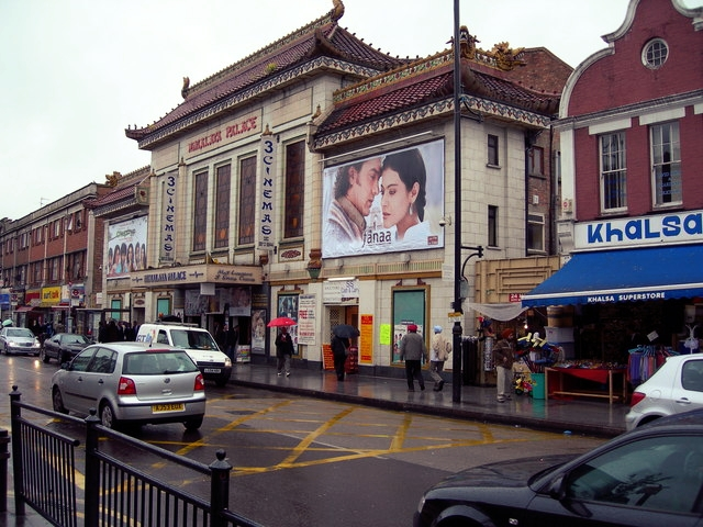 The only remaining piece of cinema history on the high-street - the marquee of the old Liberty Cinema which is now an indoor market.