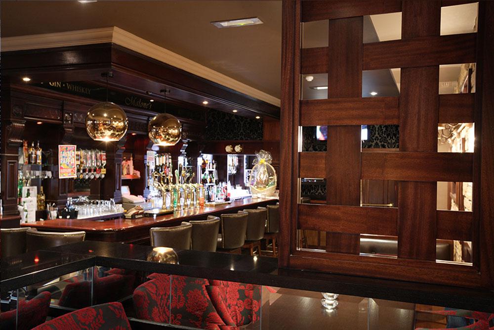 Malone's Irish Pub design - interior bar design