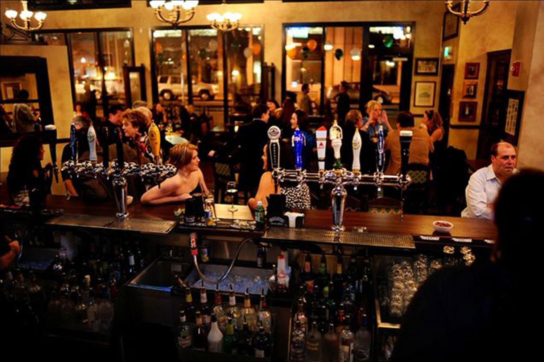 de Vere's authentic Irish pub design - interior view of bar from barman perspective