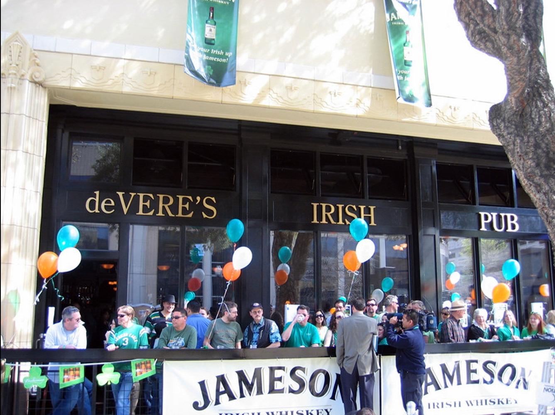 de Vere's authentic Irish pub design - exterior view of pub