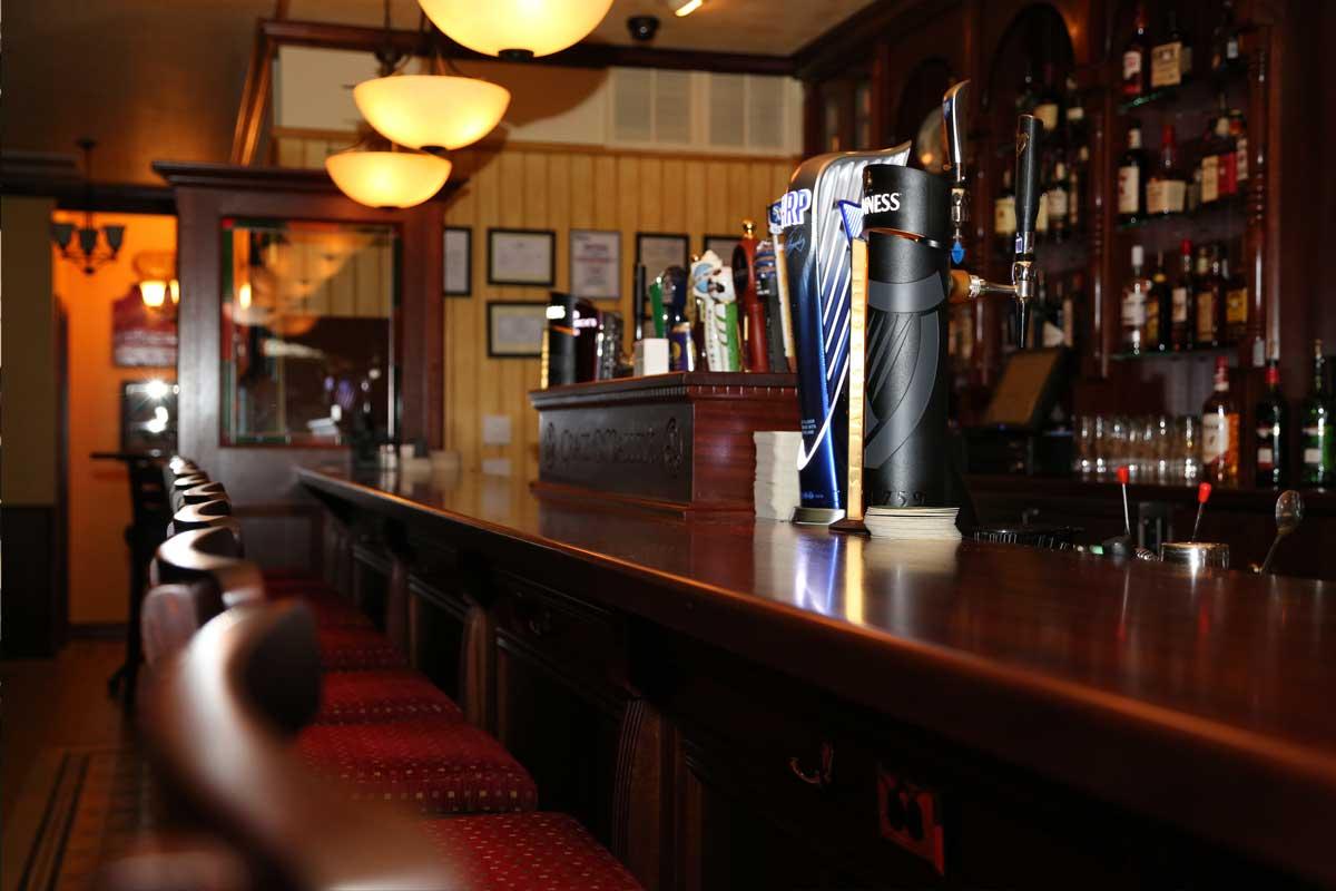Grace O'Malley's authentic Irish bar design interior bar