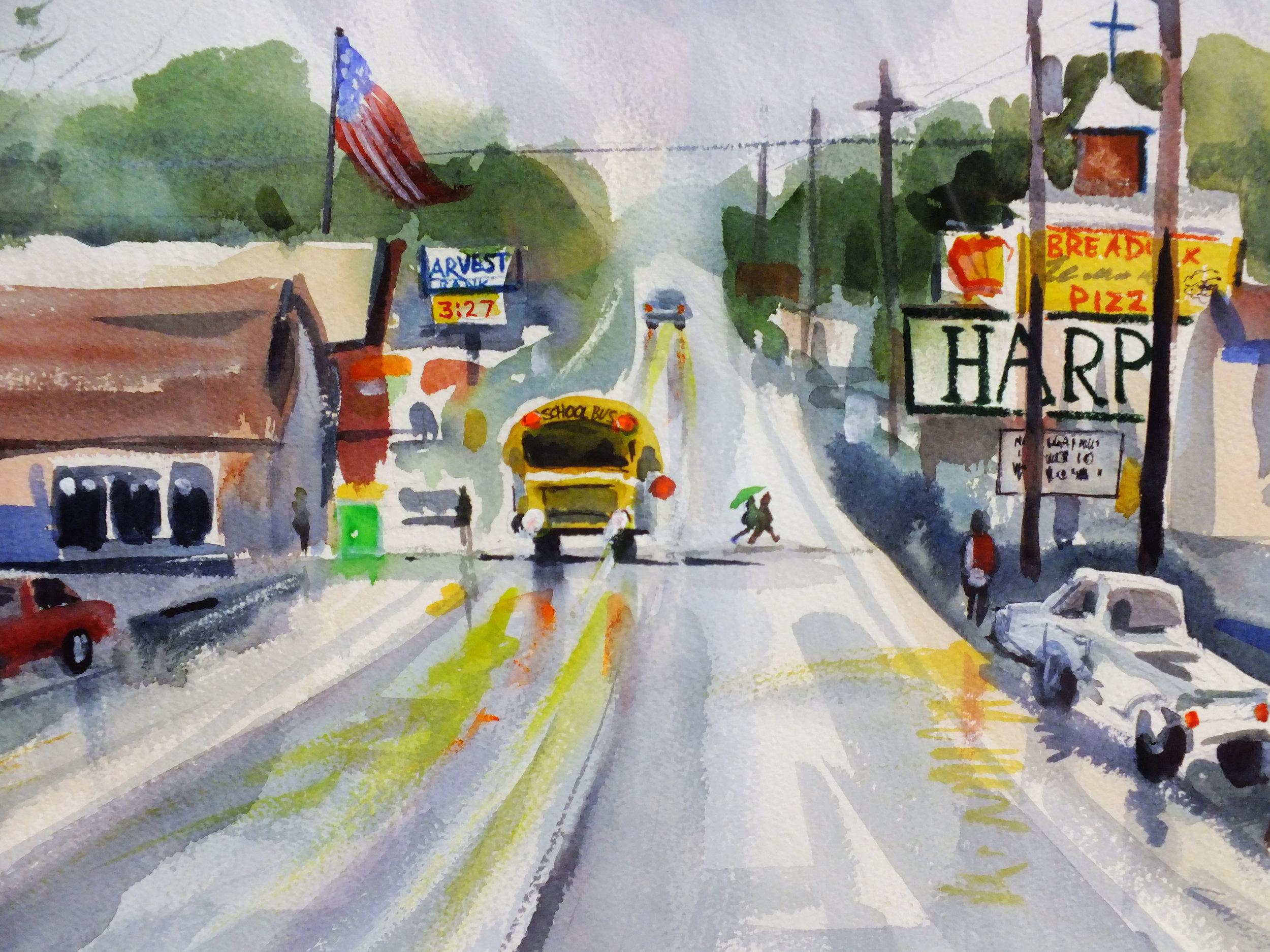 Home Town  12 x 18 Framed $475.00
