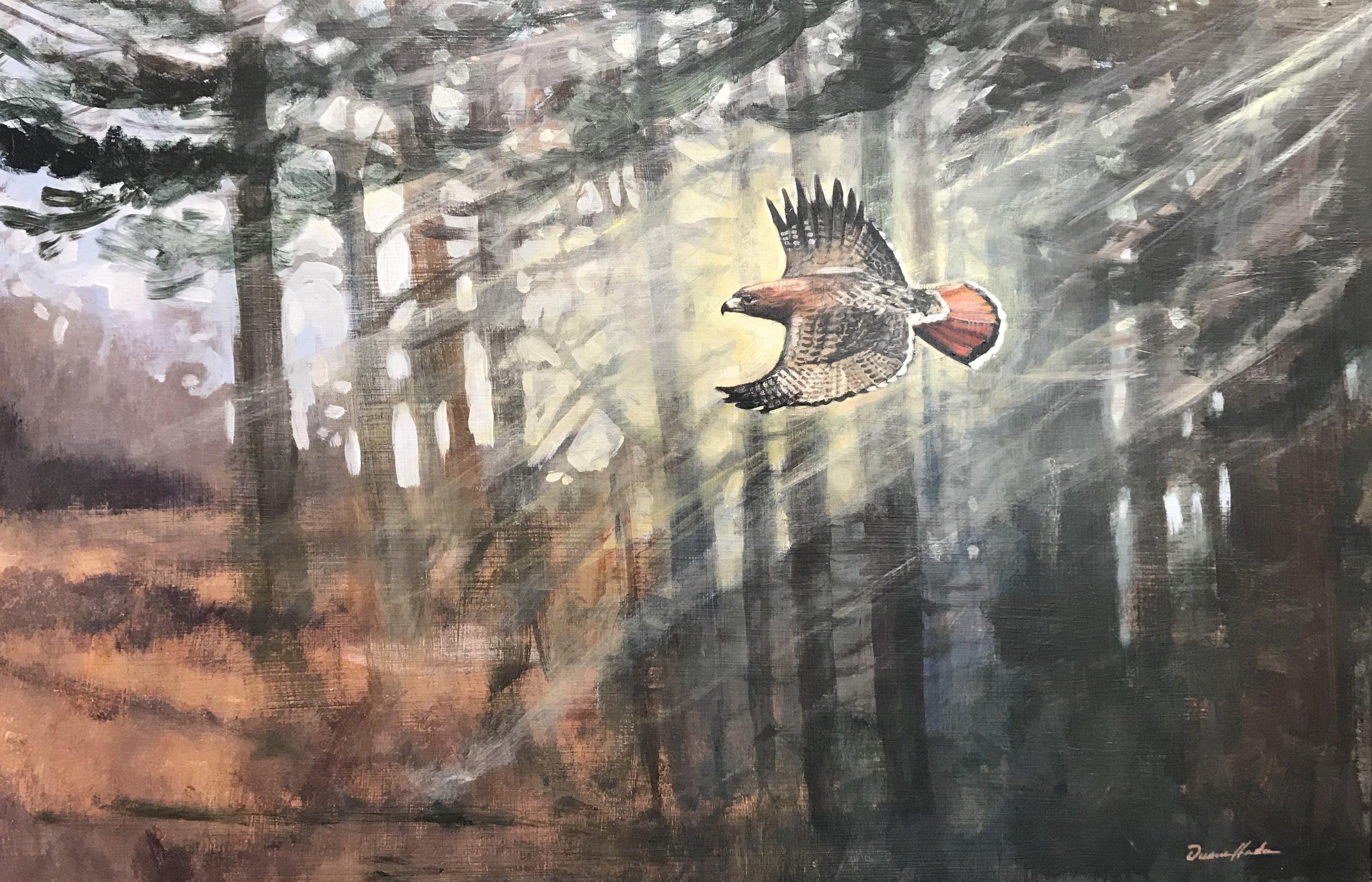 Morning Hunt - Acrylic18 x 27$1458.00