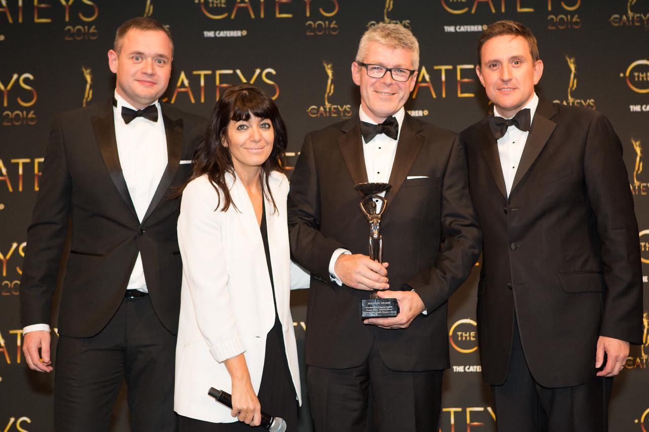 Catey's award ceremony (courtesy of The Caterer)