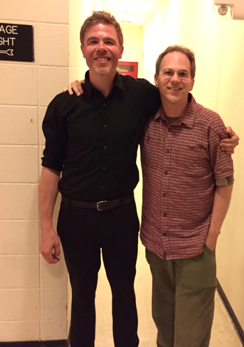 Singer Josh Ritter with Ezra Soiferman backstage in Albany, NY