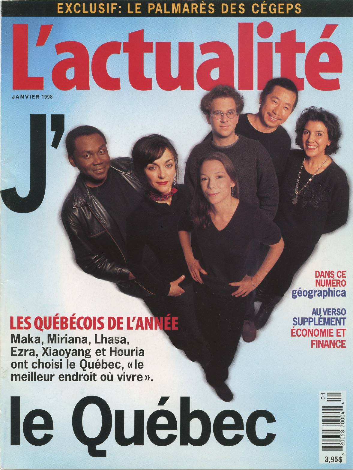 Quebecer of the Year - 1998 - L'actualité