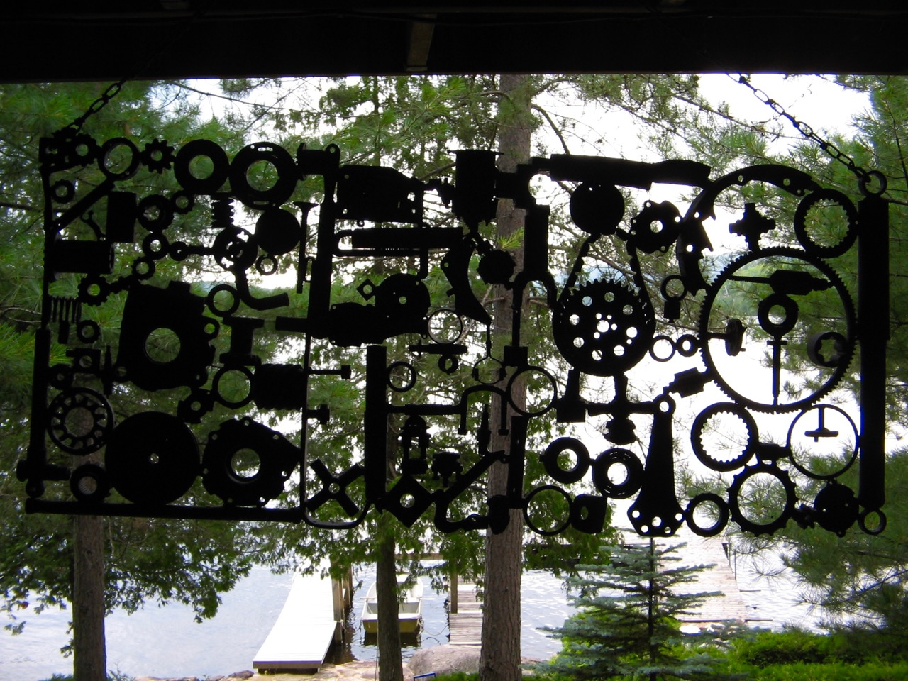 Metal sculpture at Lake Patrick