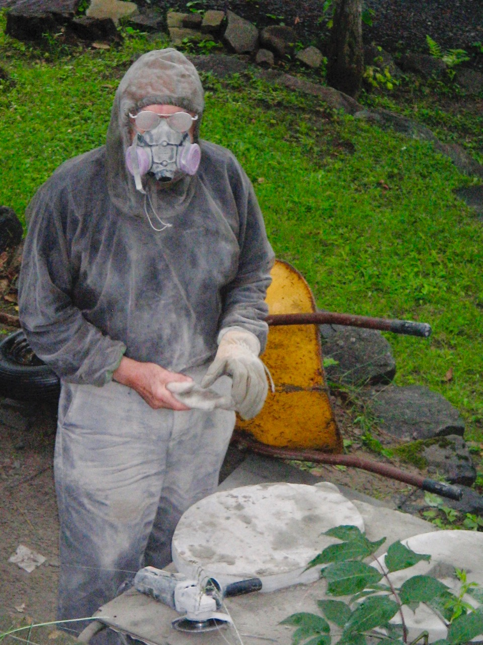At work up in Lake Patrick, 2008