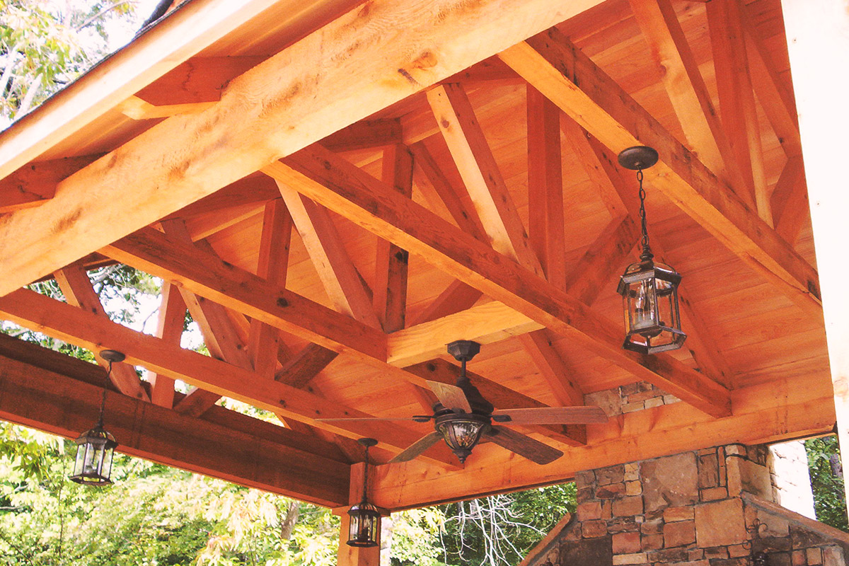 outdoor fireplace pavilion (alt view)