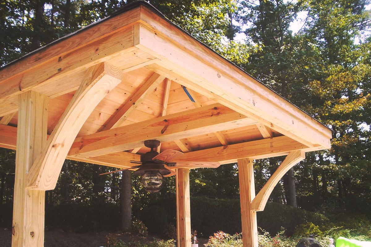outdoor kitchen pavilion