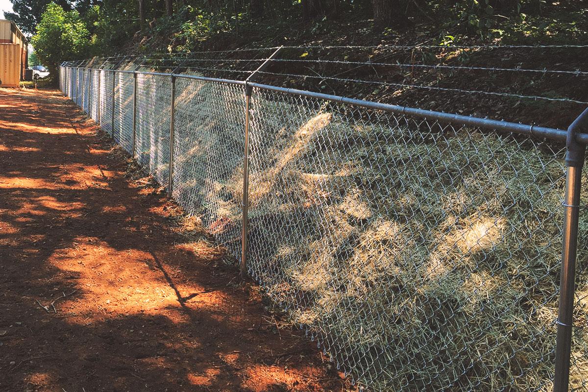 galvanized + barbed wire