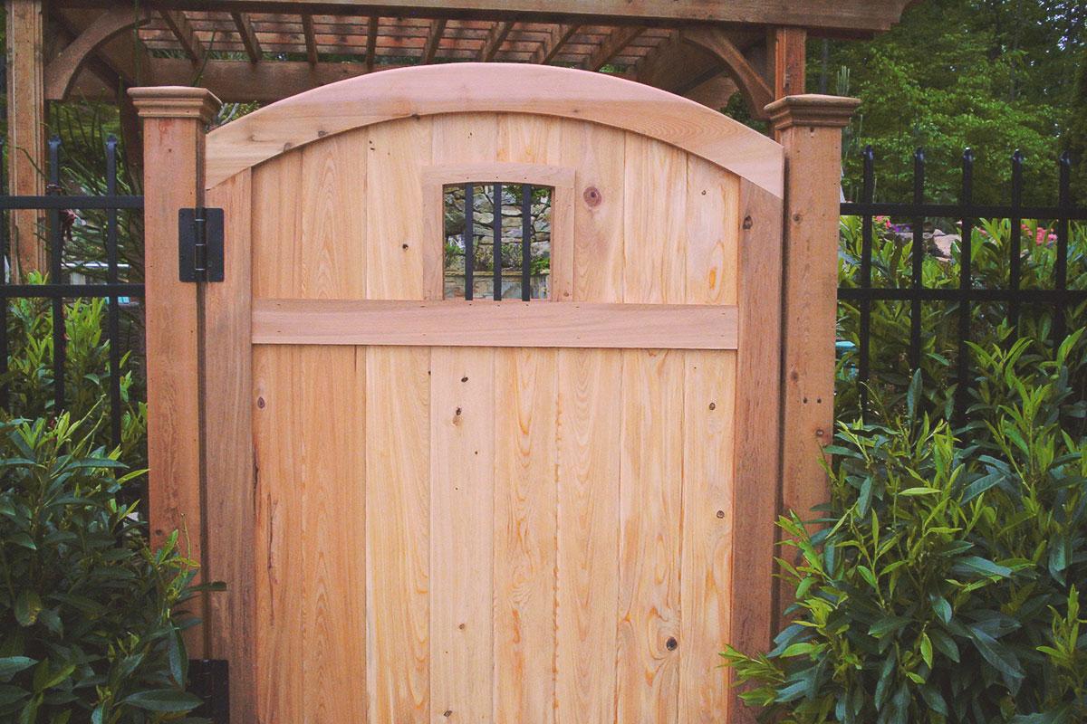 arched cellar door