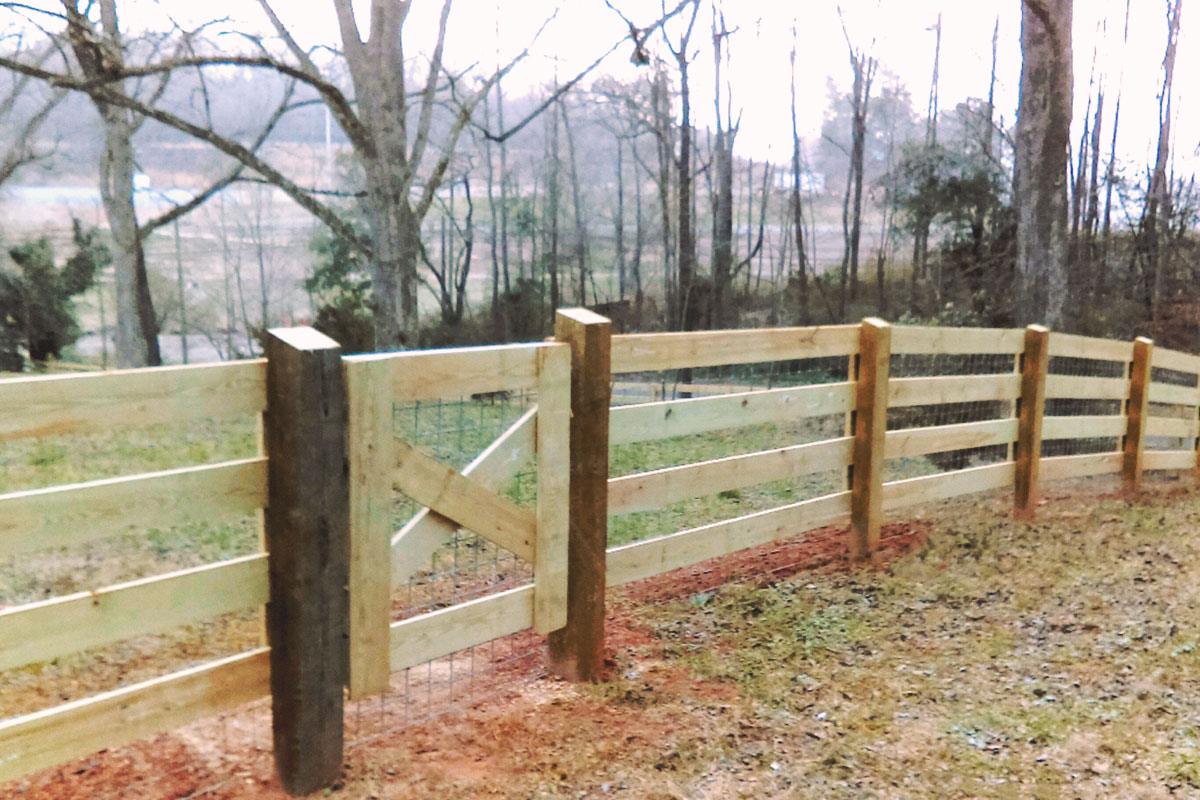 4-rail ranch + walk gate