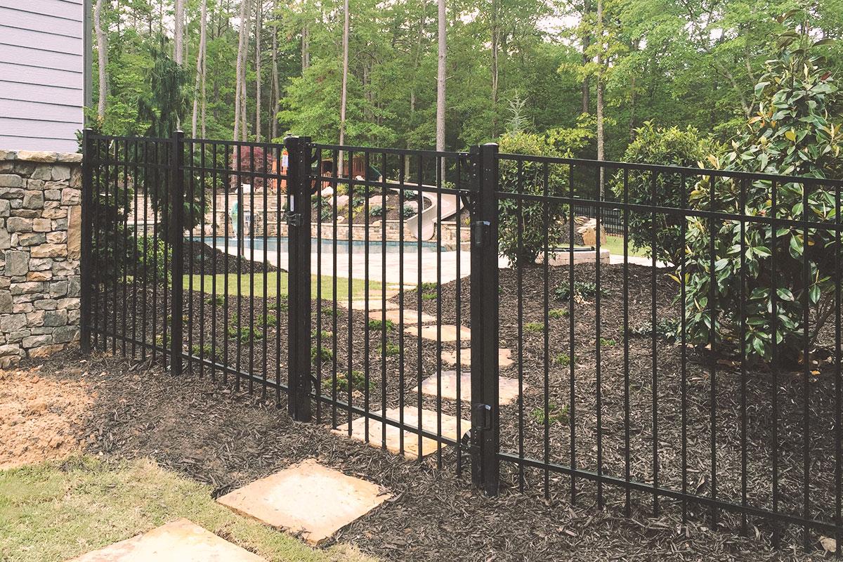 walk gate, aluminum