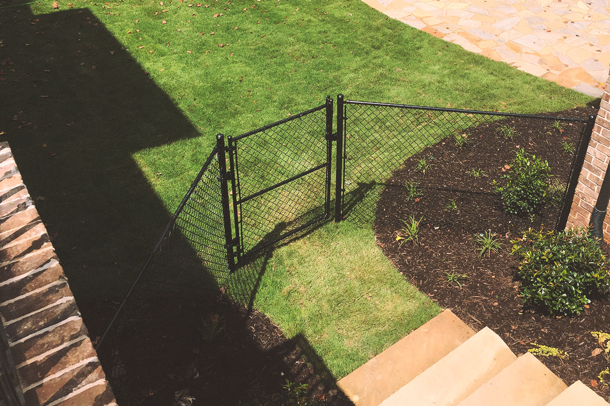 vinyl coated (black) gate