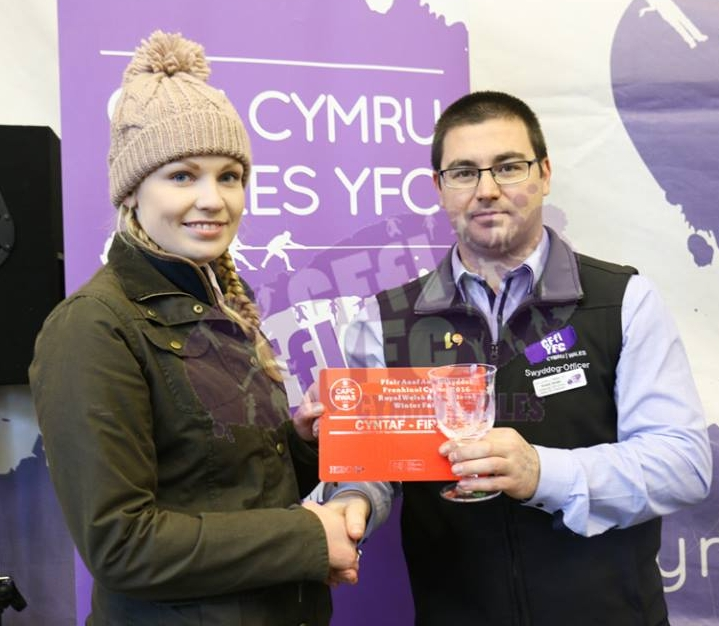 Sioned Price, Knighton YFC 1st in the Butchers Lamb Competition