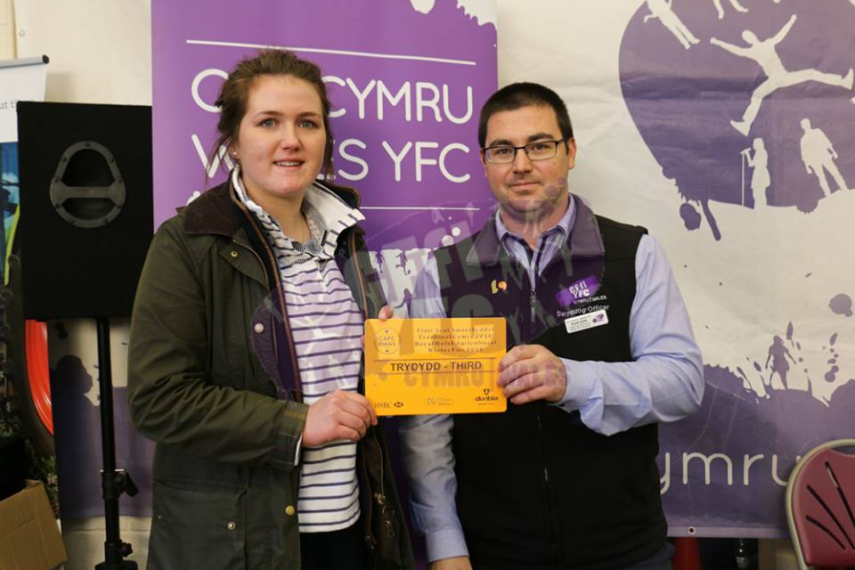 Ella Harris, Teme Valley YFC 3rd in the Butchers Lamb Competition