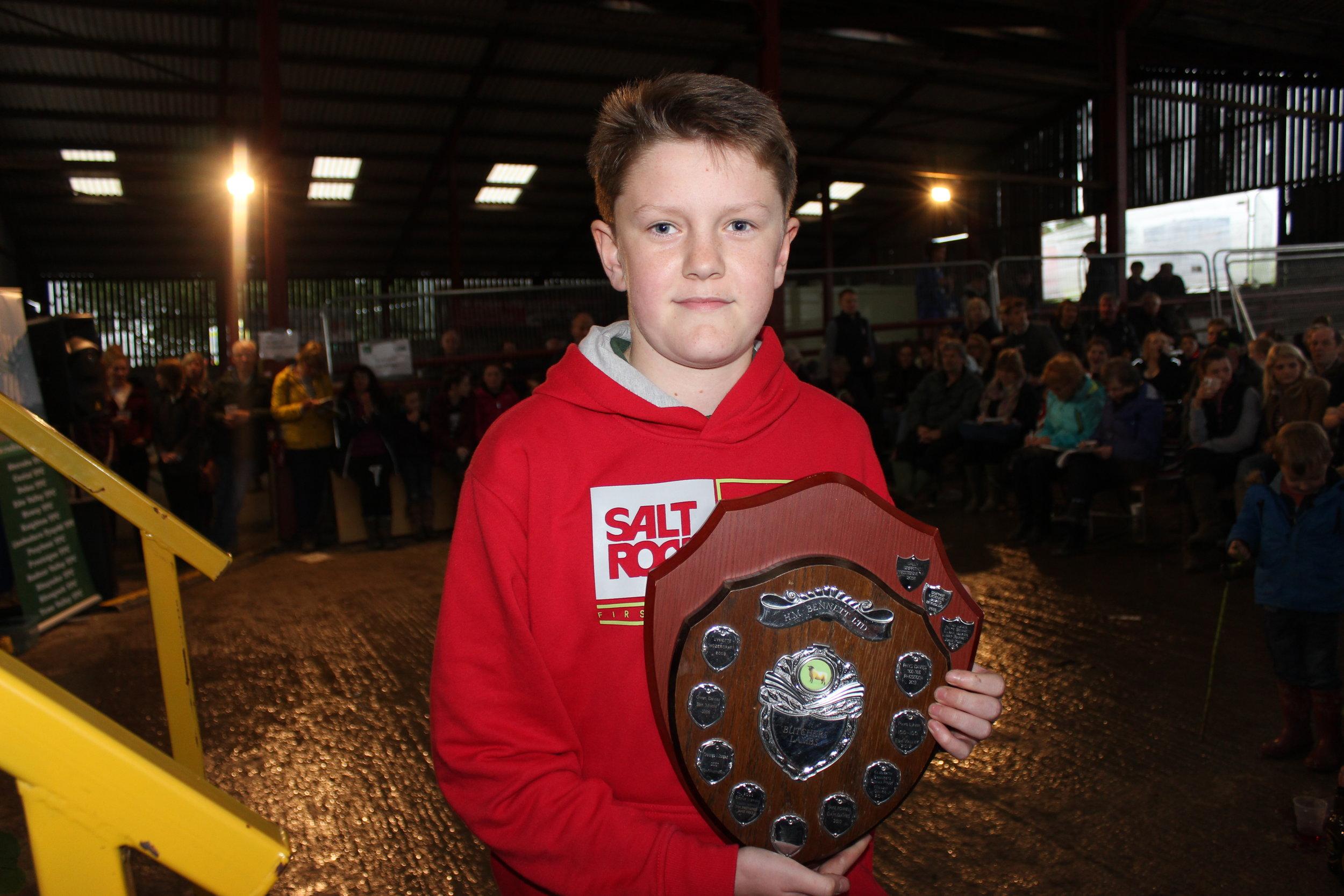 William Davies, Aberedw YFC  - H M Bennett Ltd Shield (Fat Lamb Judging)