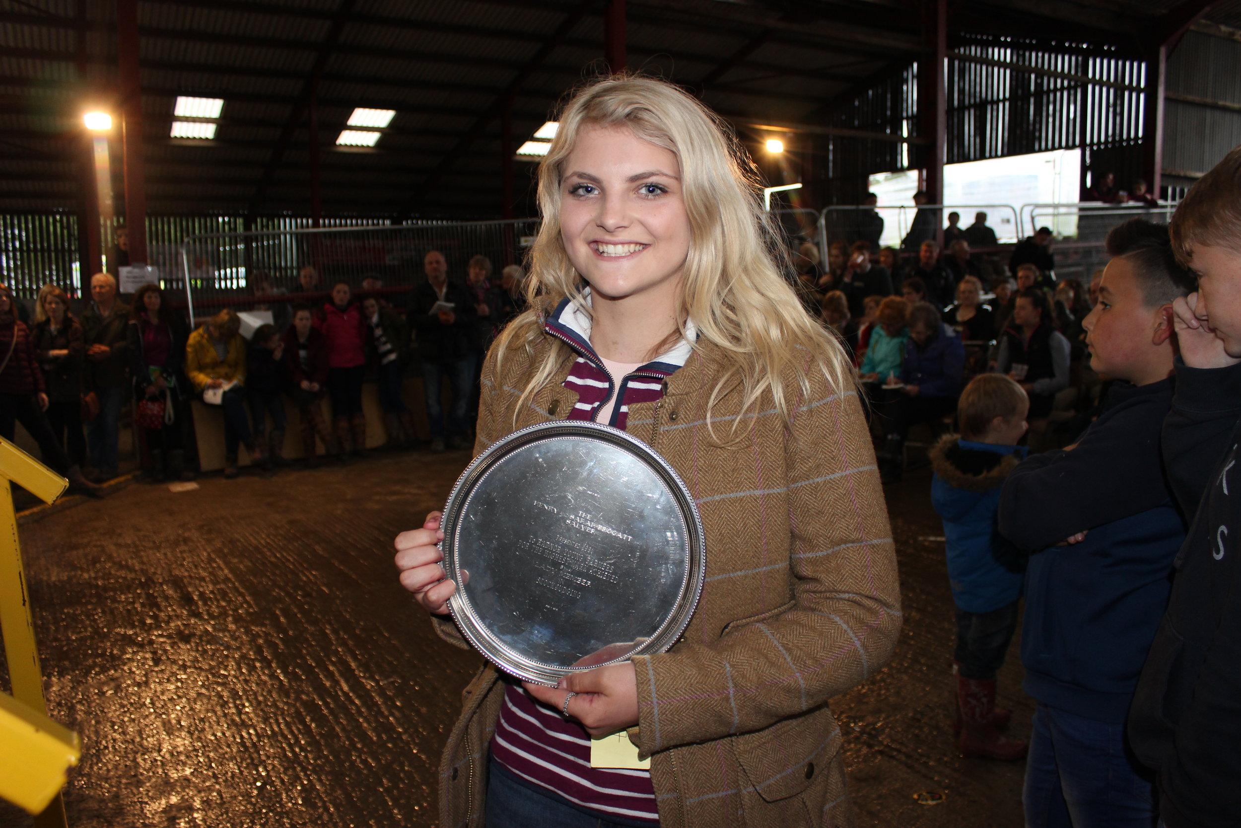 Annie Fairclough, Llanbadarn Fynydd YFC - Sarah Frogatt Tropy (Highest Pre Rally Stockjudging Mark)